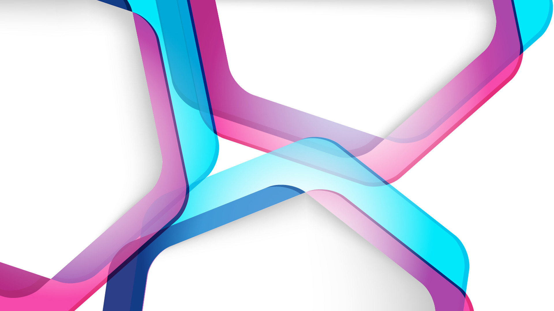 Abstract Blue Multicolor Purple Shapes Vector White Background