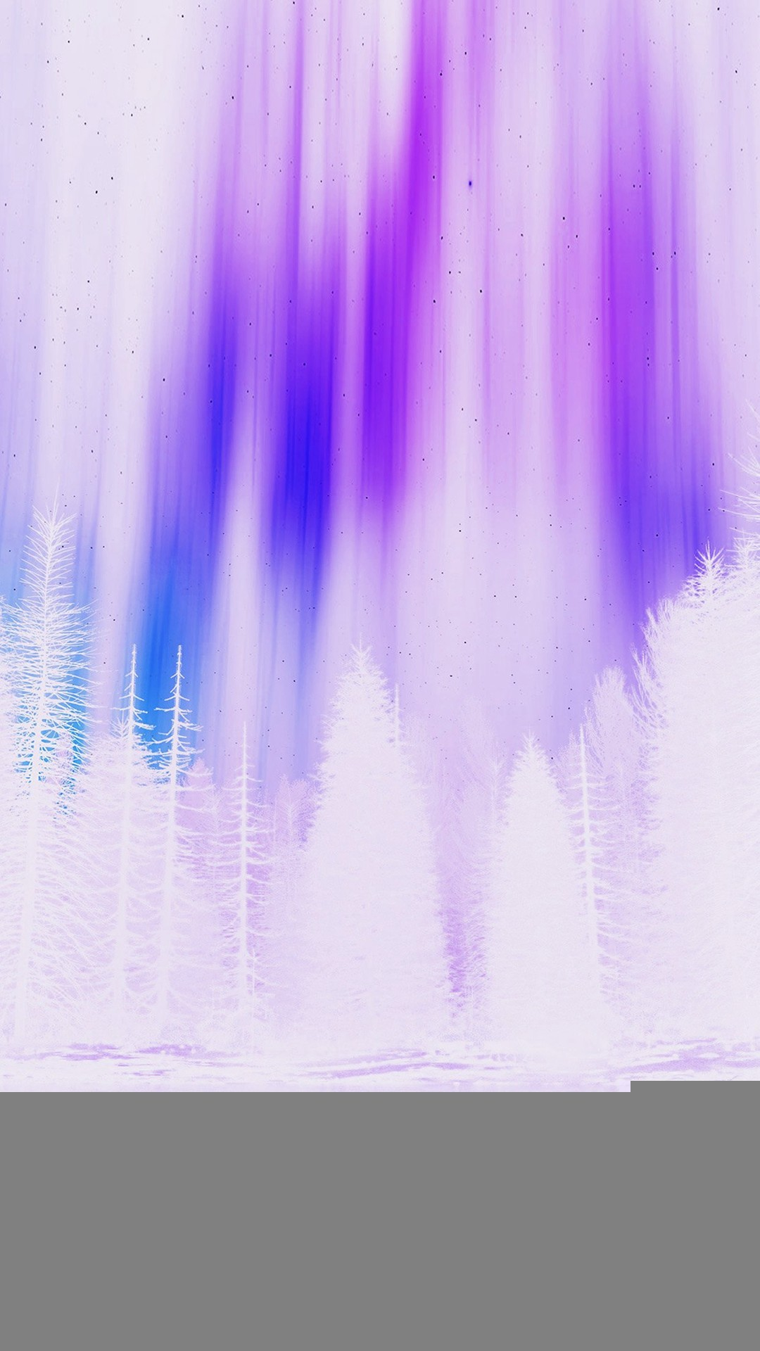 Aurora Night Sky White Purple Nature Art iPhone 8 wallpaper