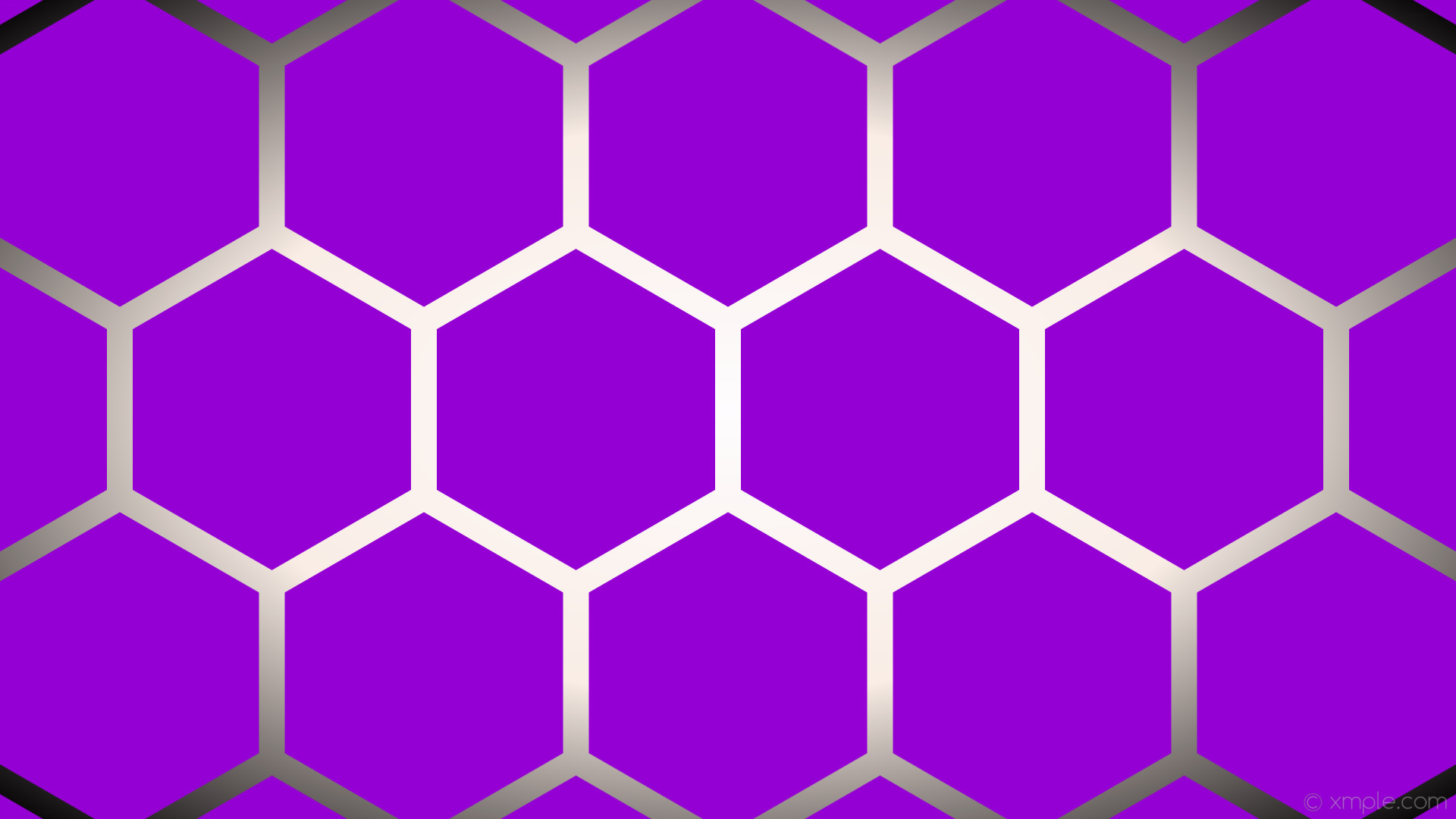 wallpaper white glow hexagon gradient purple black dark violet linen  #9400d3 #ffffff #faf0e6