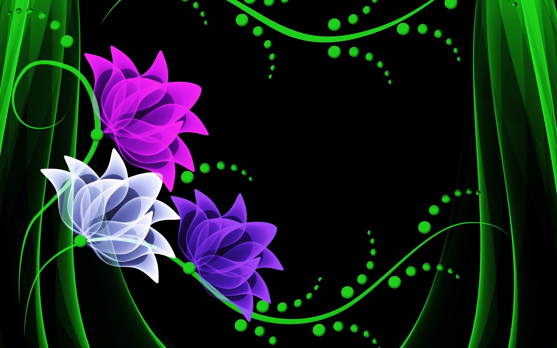 Purple White & Pink Flower wallpapers and stock photos