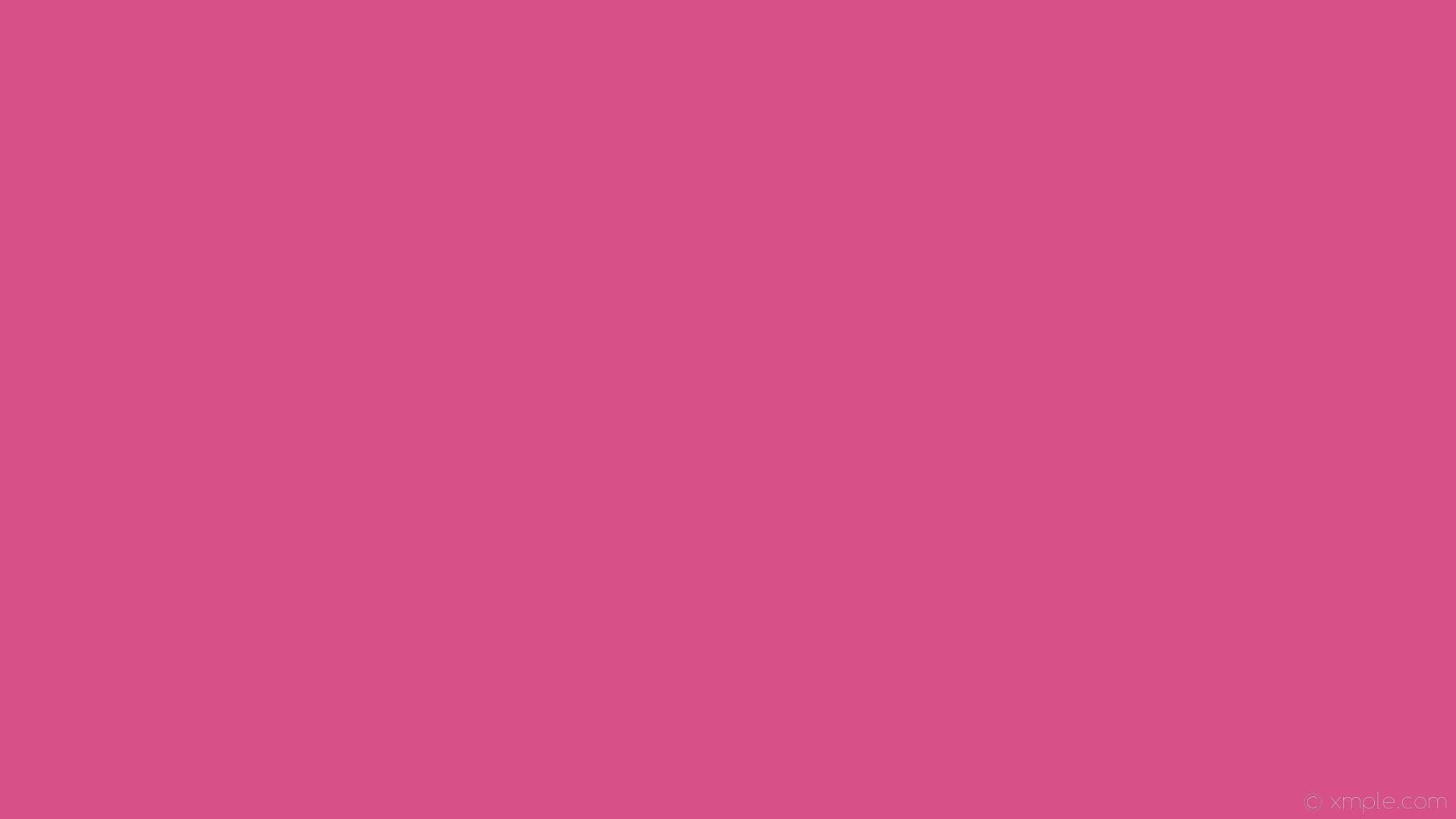 wallpaper plain one colour solid color pink single #d75087