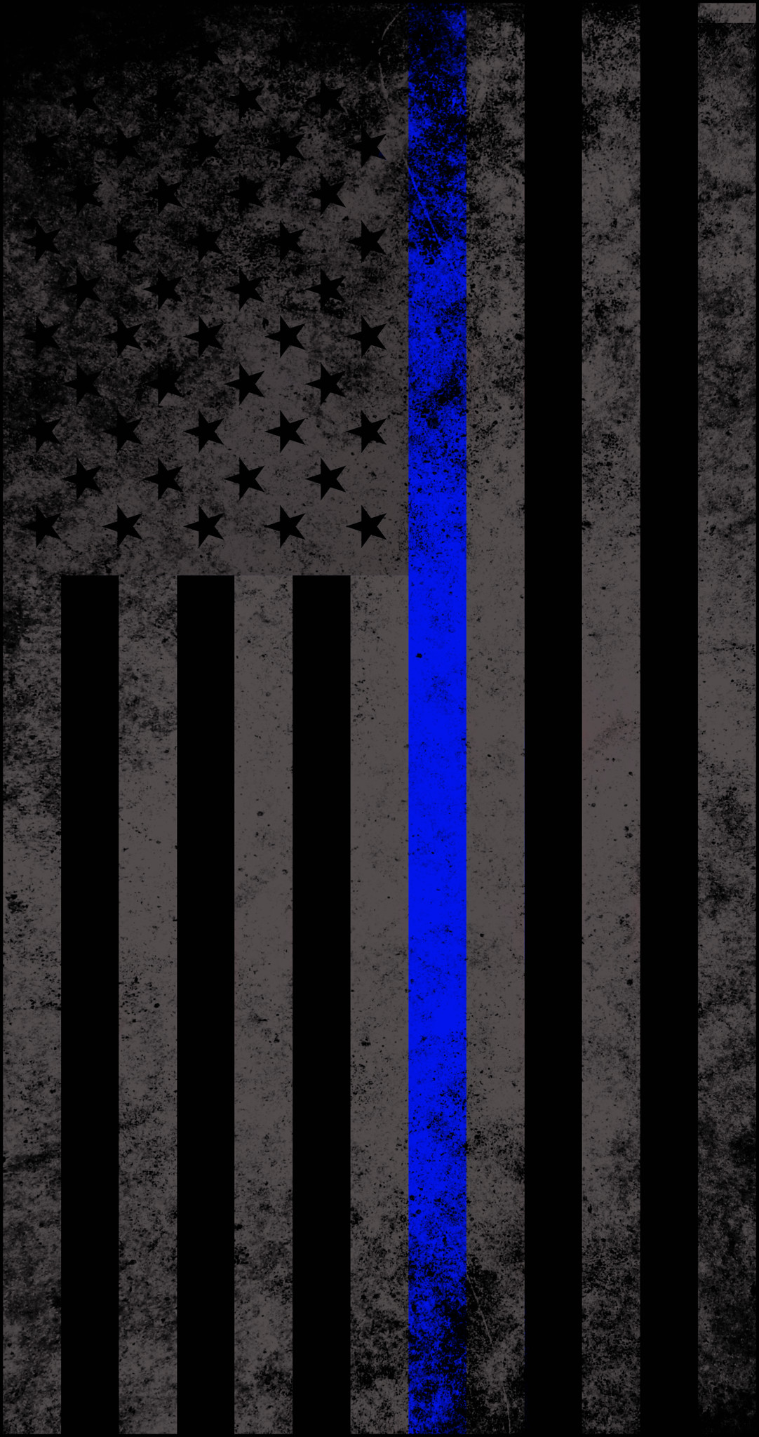 American Subdued Thin Blue Line Flag Decal