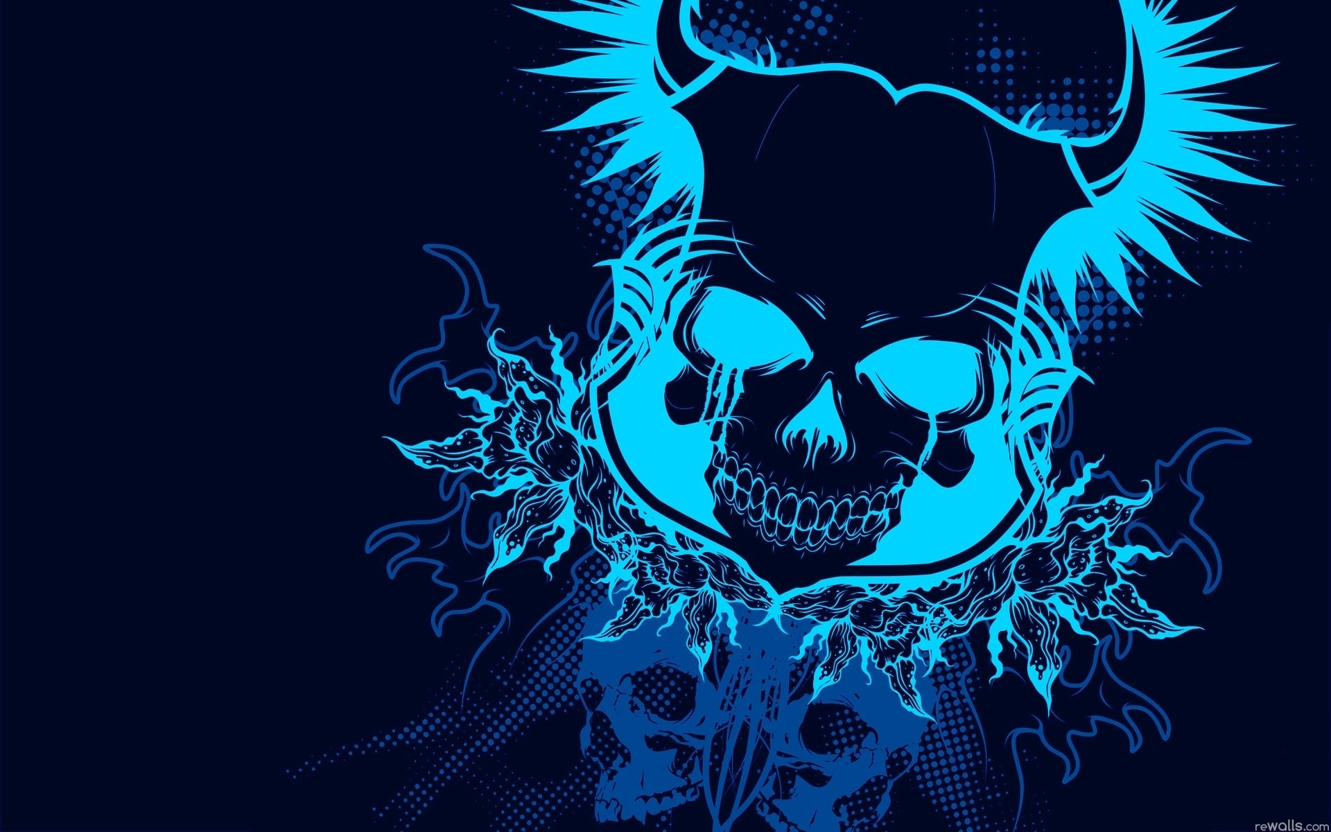 pink flowers abstract love wallpaper blue skull abstract wallpaper .