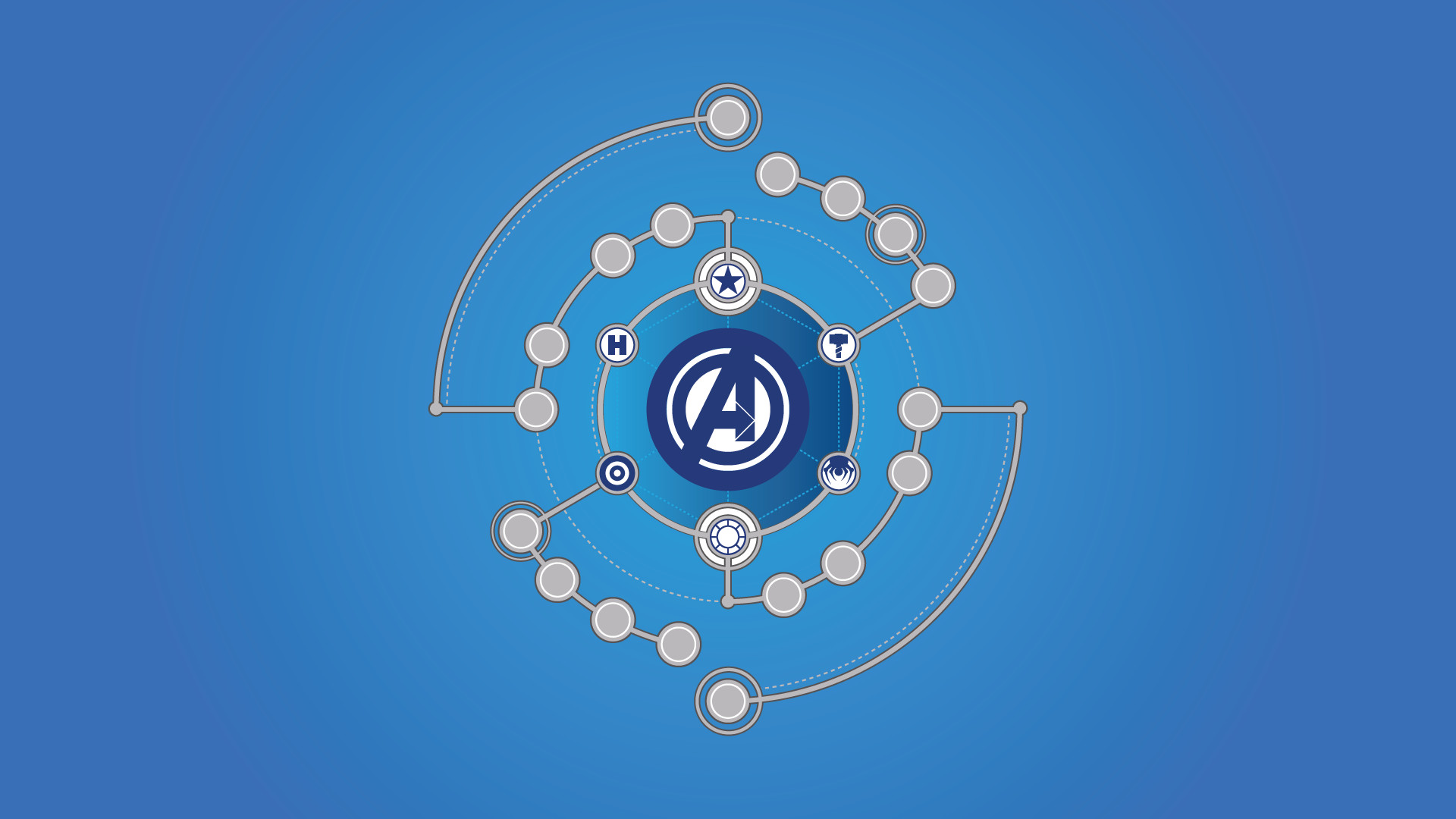 Made a wallpaper from Avengers #1 line-up …