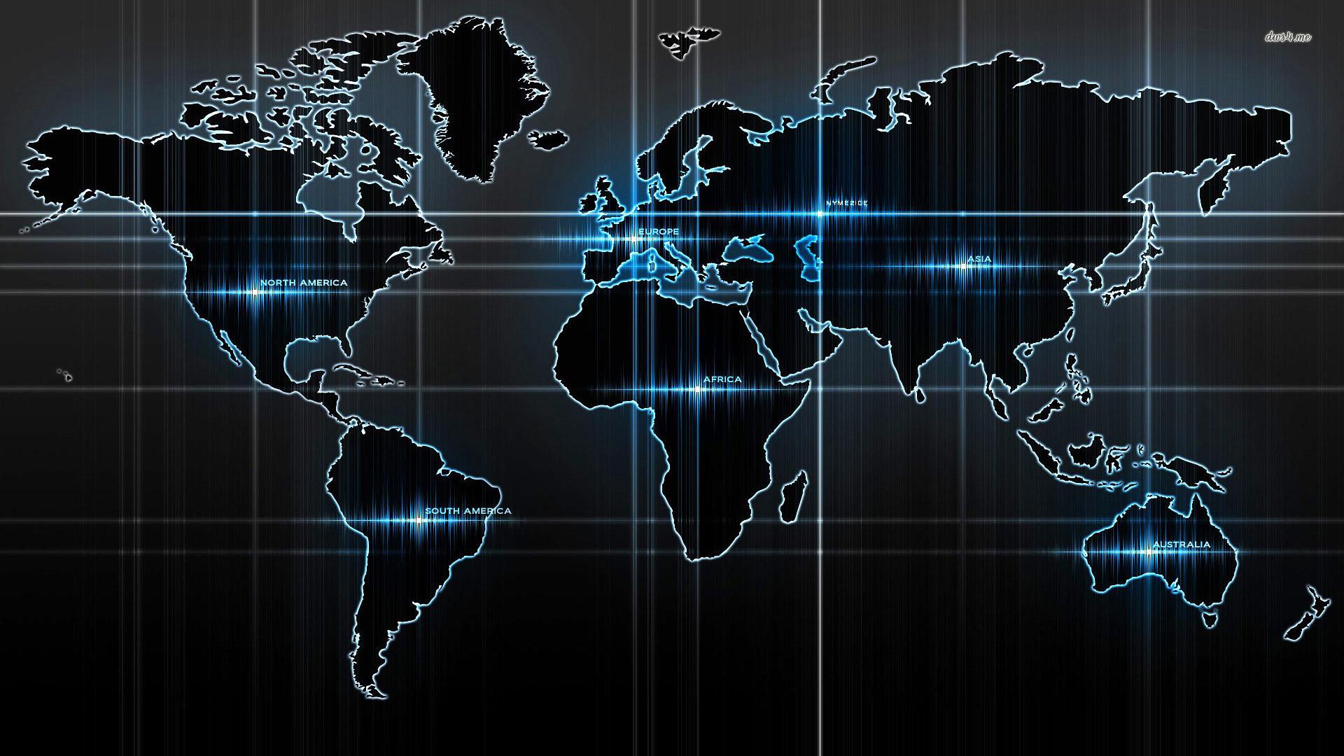 World Map Wallpaper .