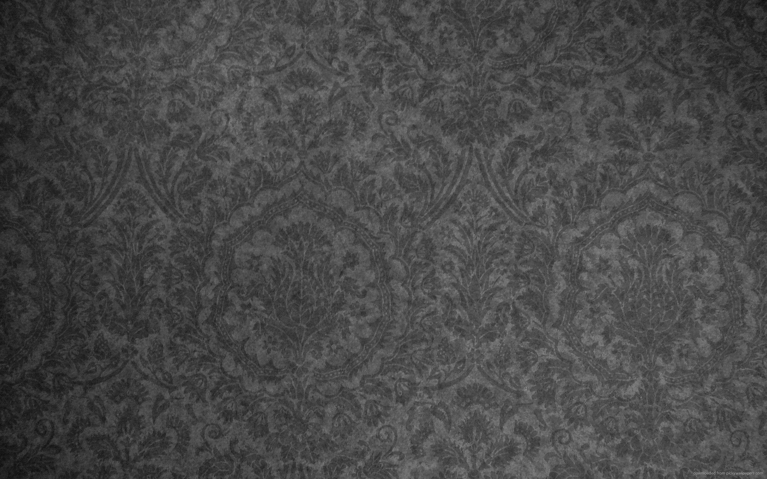 Dark Grey Damask Pattern for 2560×1600