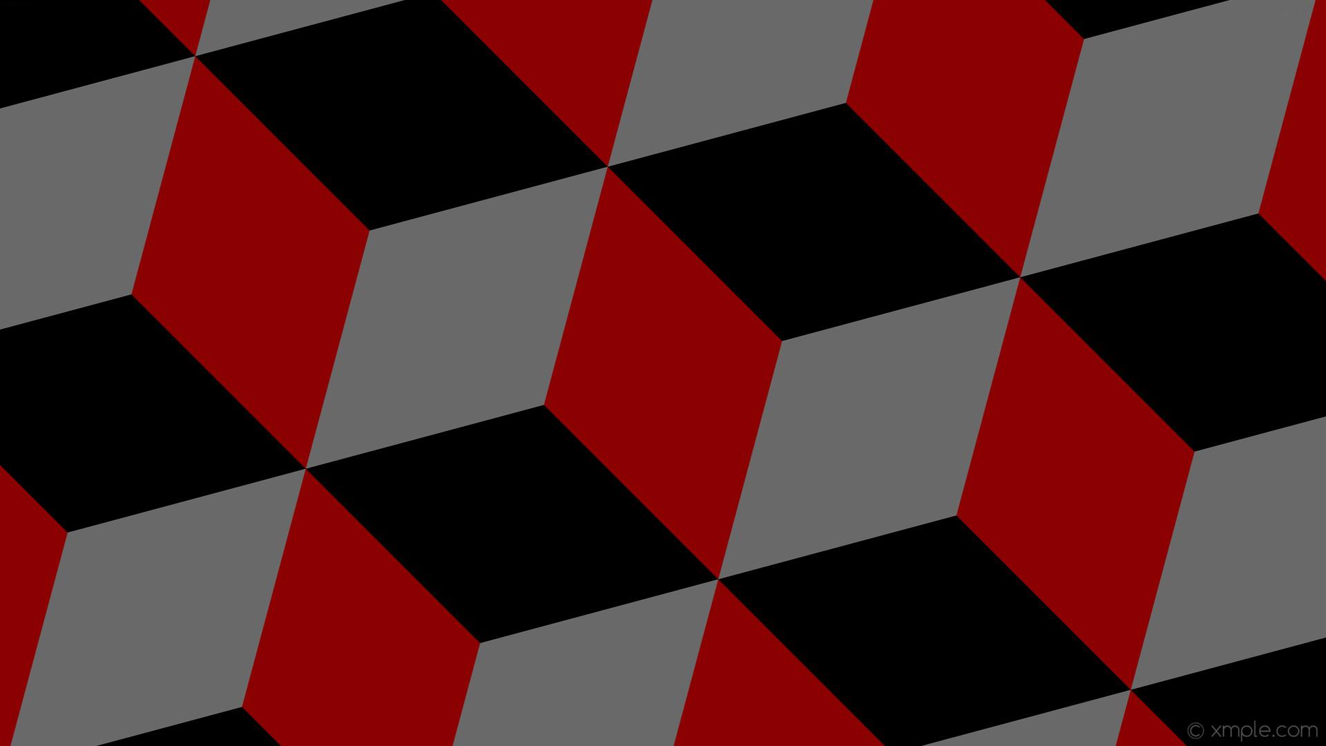 wallpaper red grey 3d cubes black dark red dim gray #8b0000 #696969 #000000