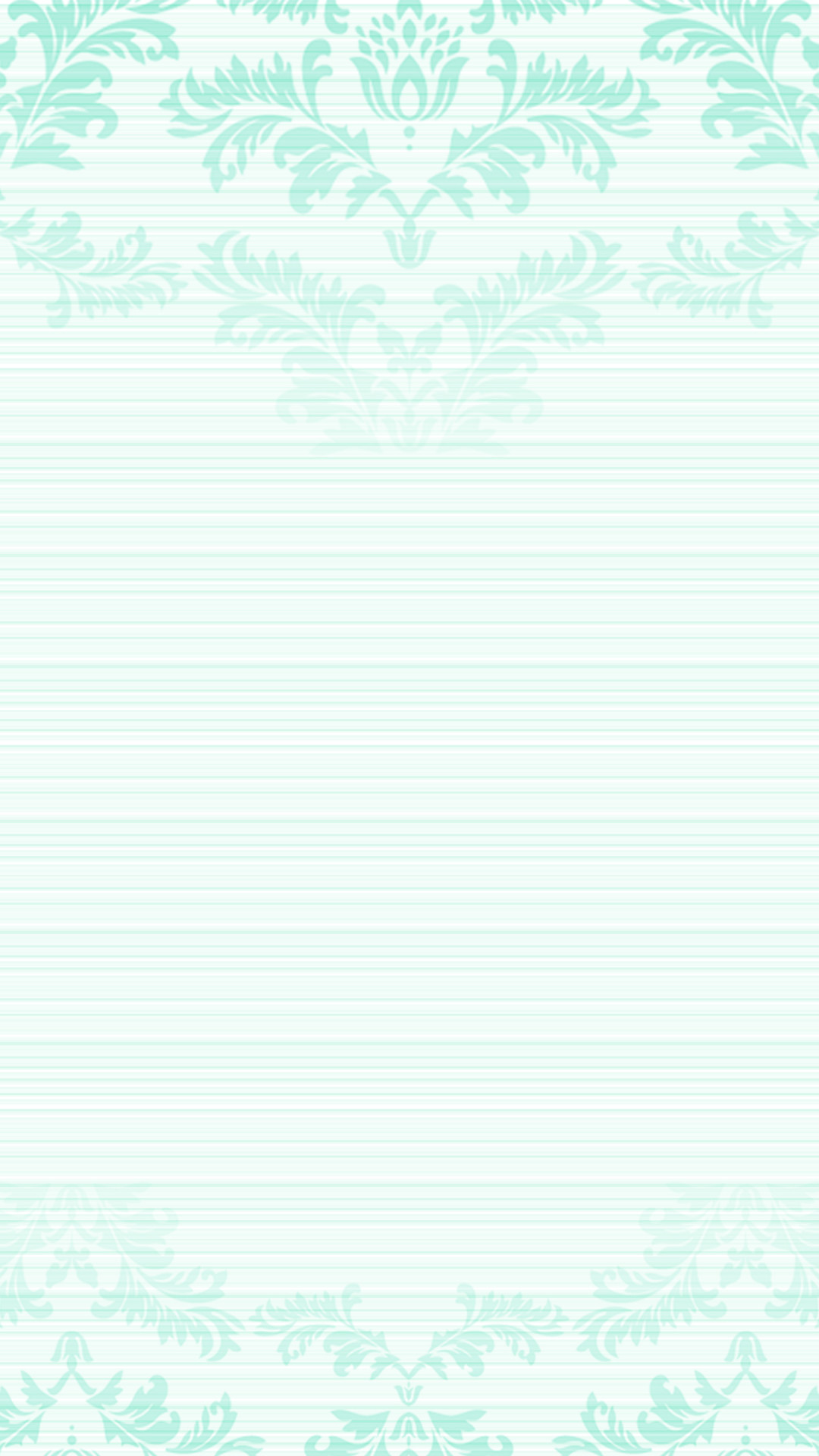 Pastel mint green ombre damask frame iPhone phone lock screen wallpaper  background