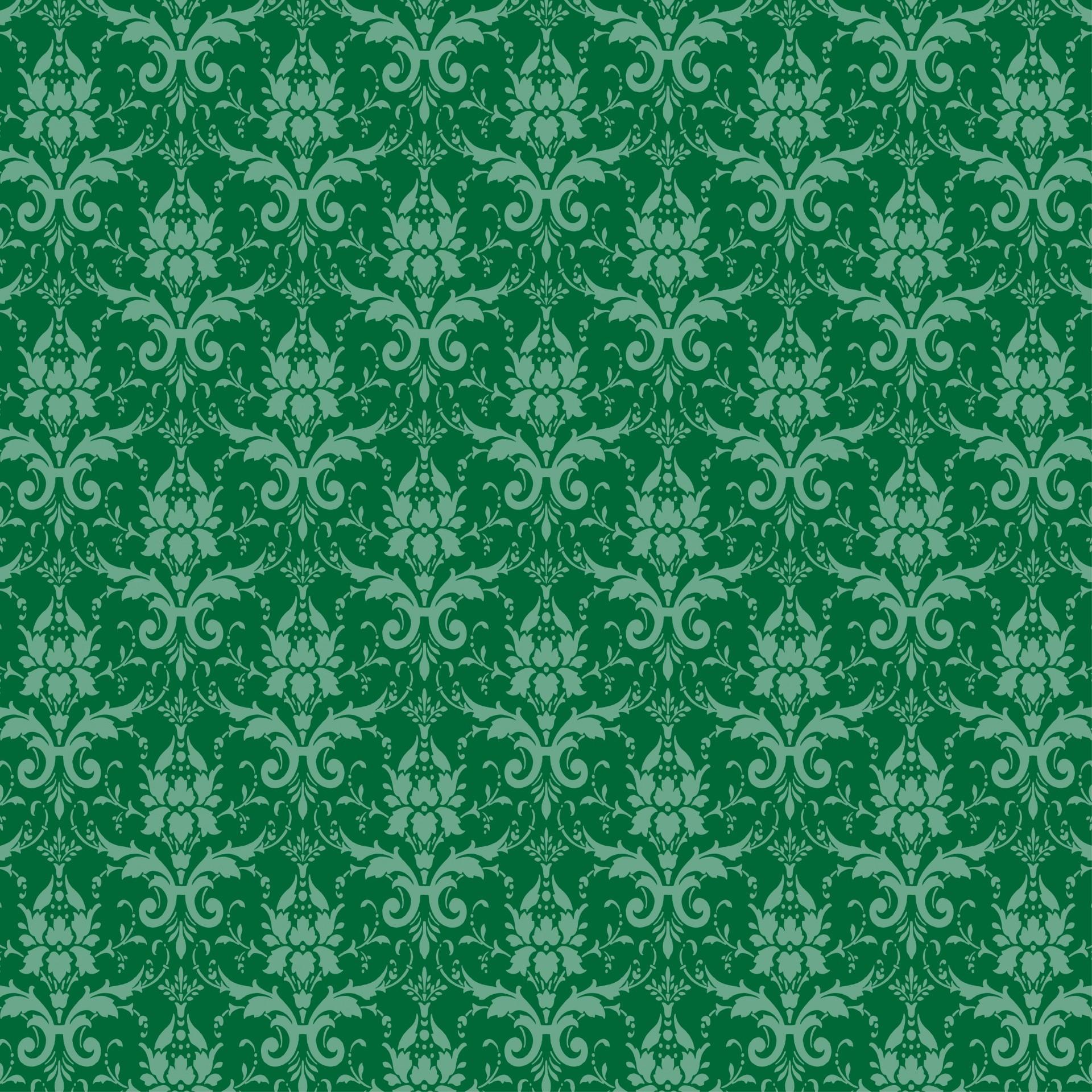 Damask Green Wallpaper