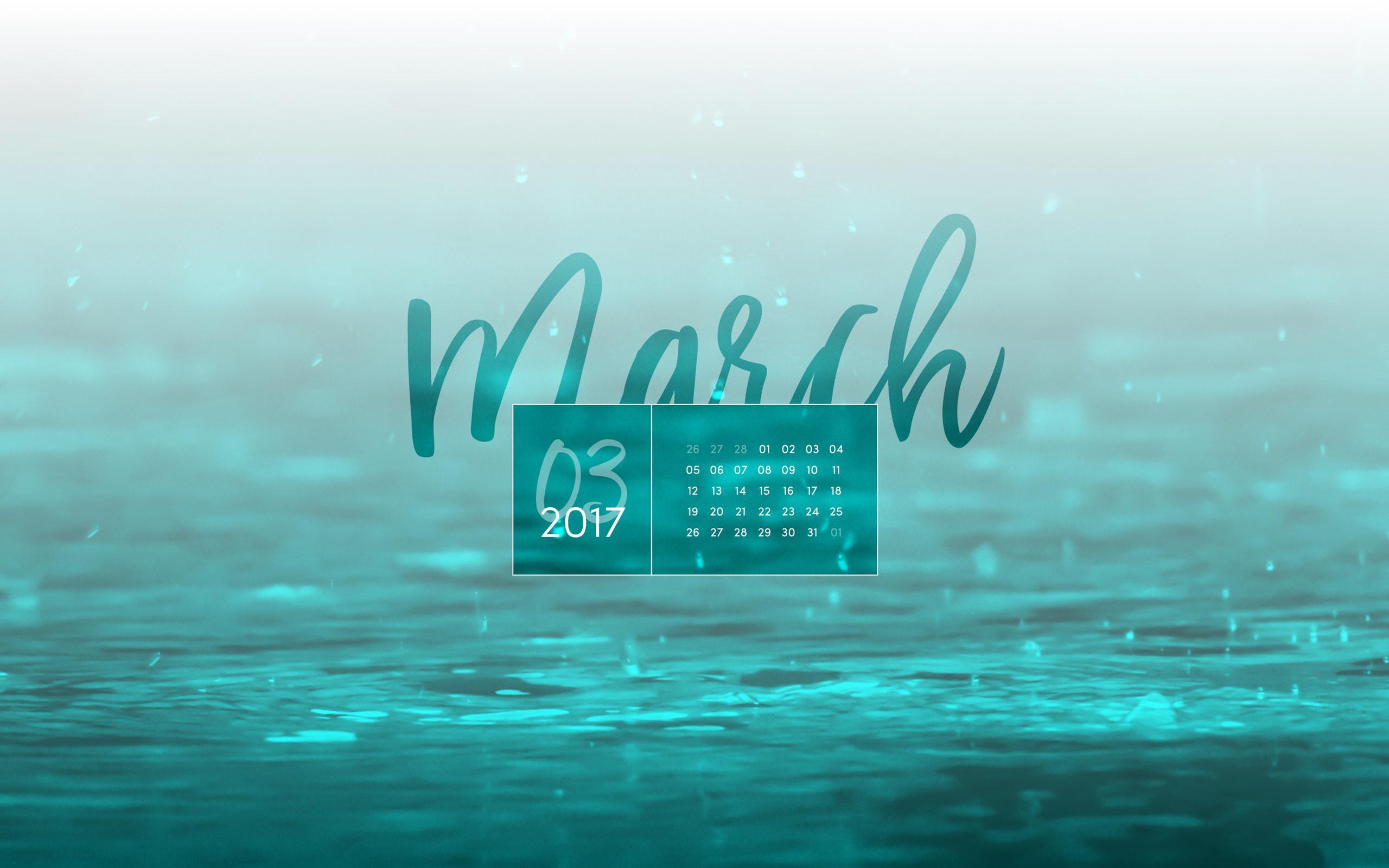 March 2017 Desktop Calendar Wallpaper