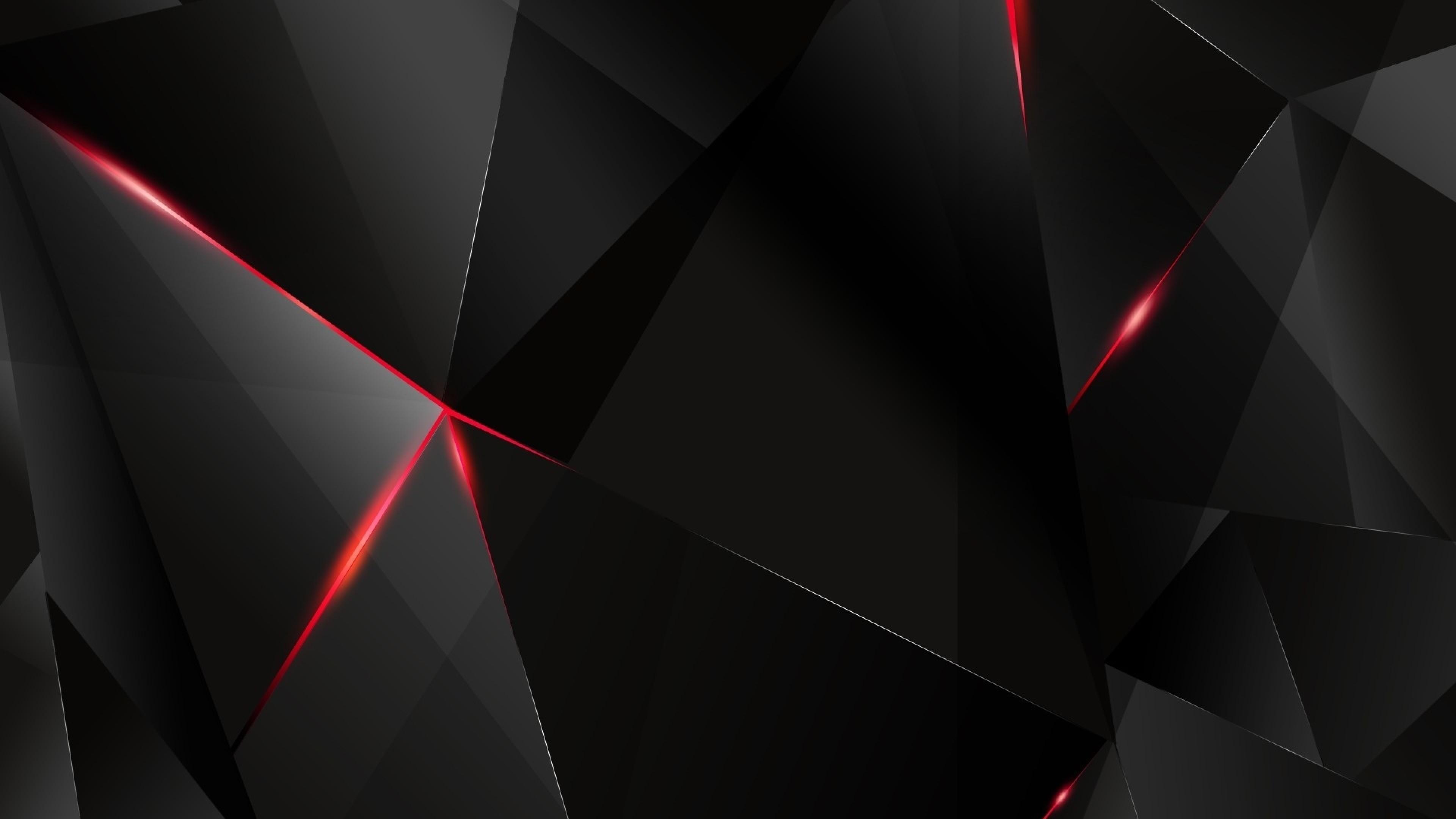 Preview wallpaper black, light, dark, figures 3840×2160