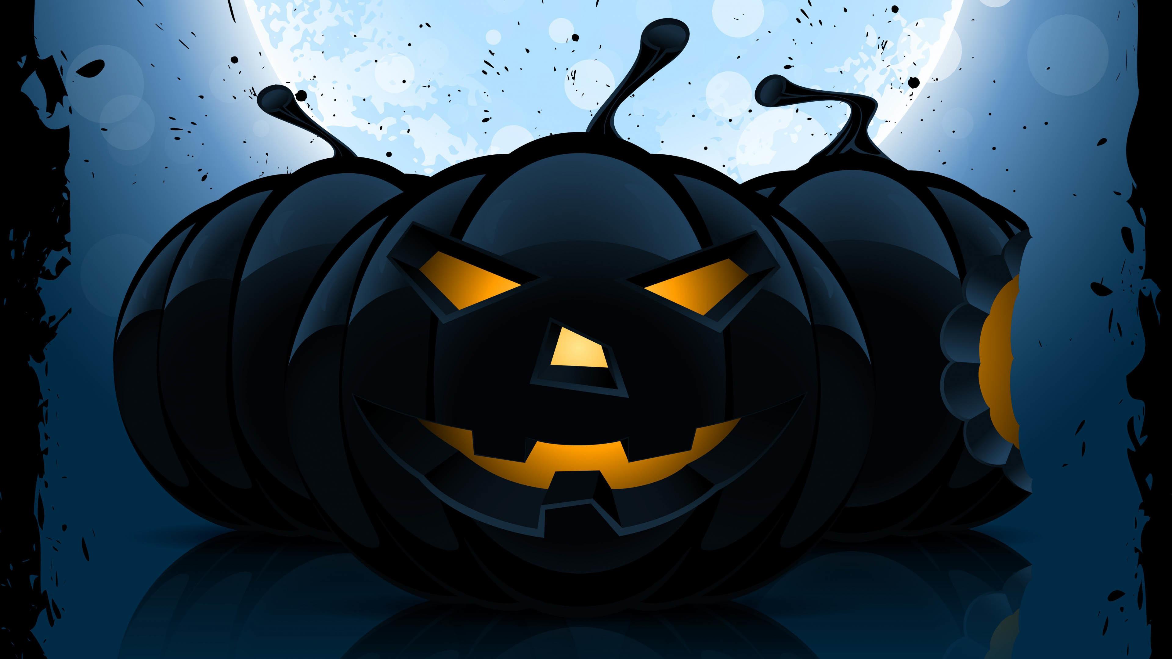 Halloween Pumpkin in the Dark wallpaper