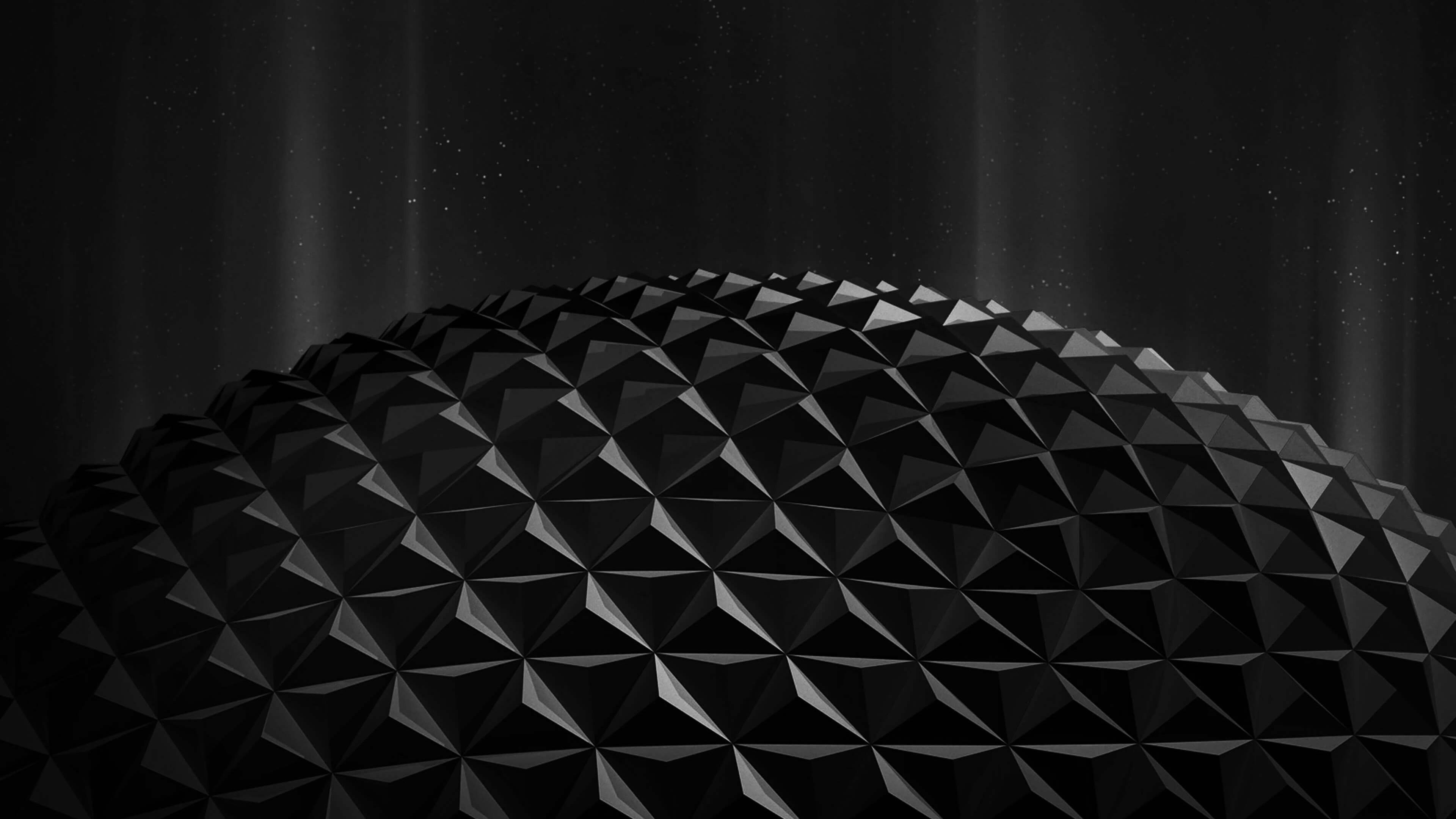 Black Polygon Planet HD wallpaper for 4K 3840 x 2160 .