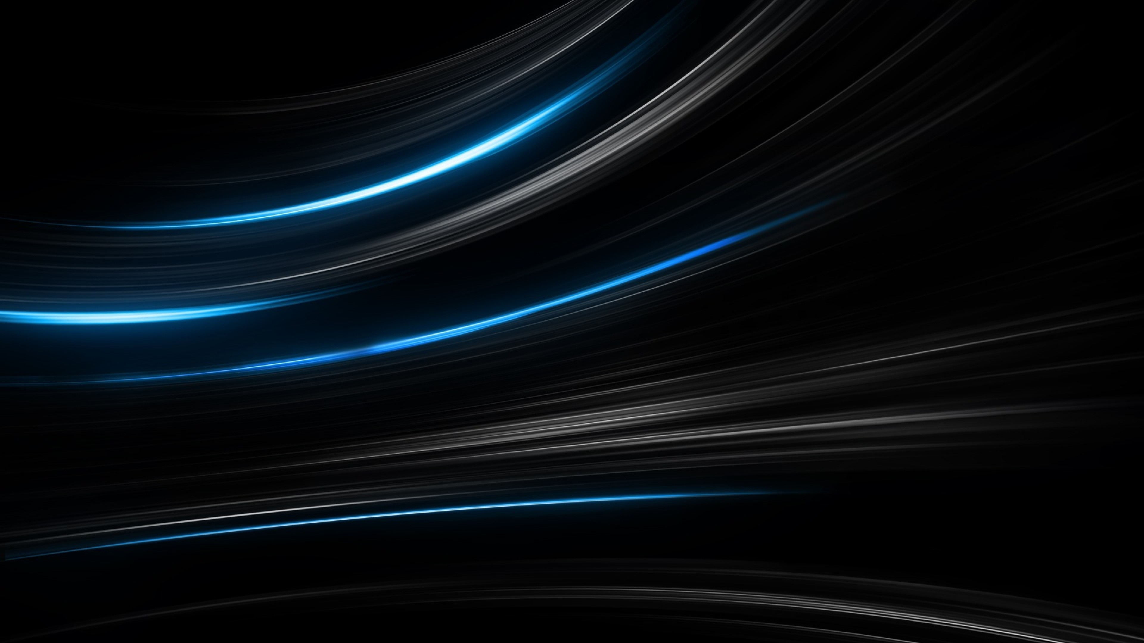 Black and Blue Abstract Stripes 4K Wallpaper