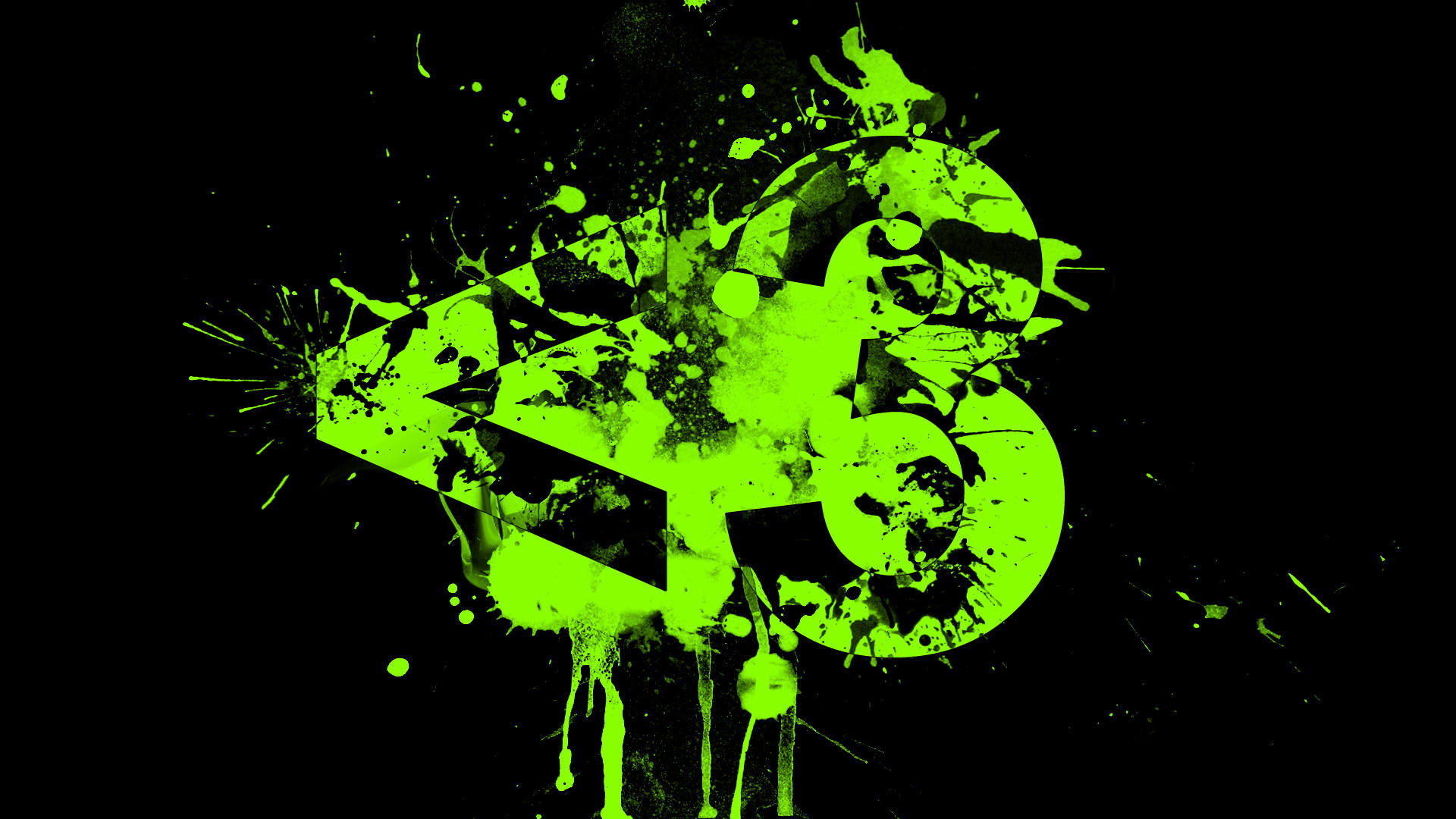 Black and green backgrounds