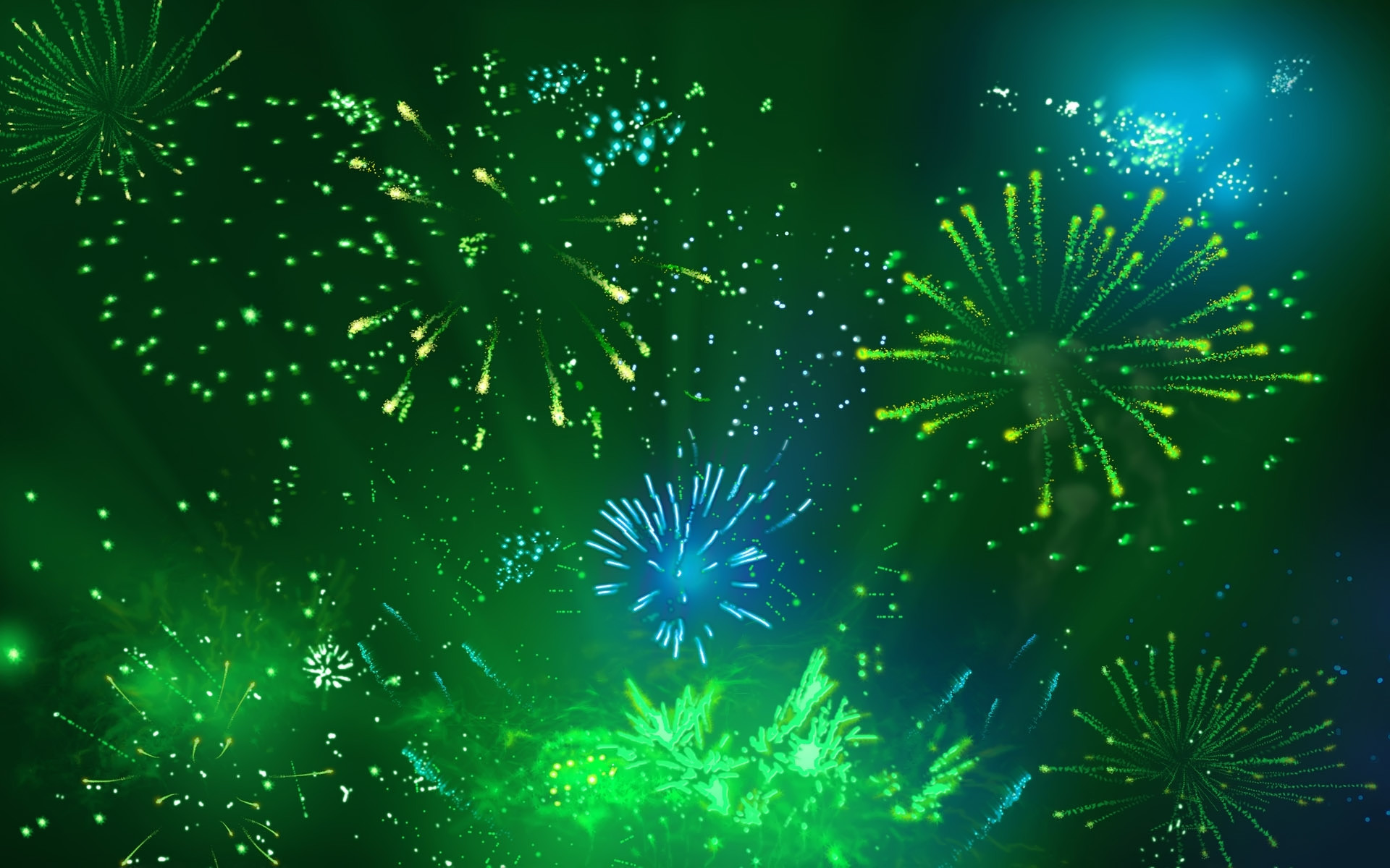 Free Cool Green Fireworks, computer desktop wallpapers, pictures .