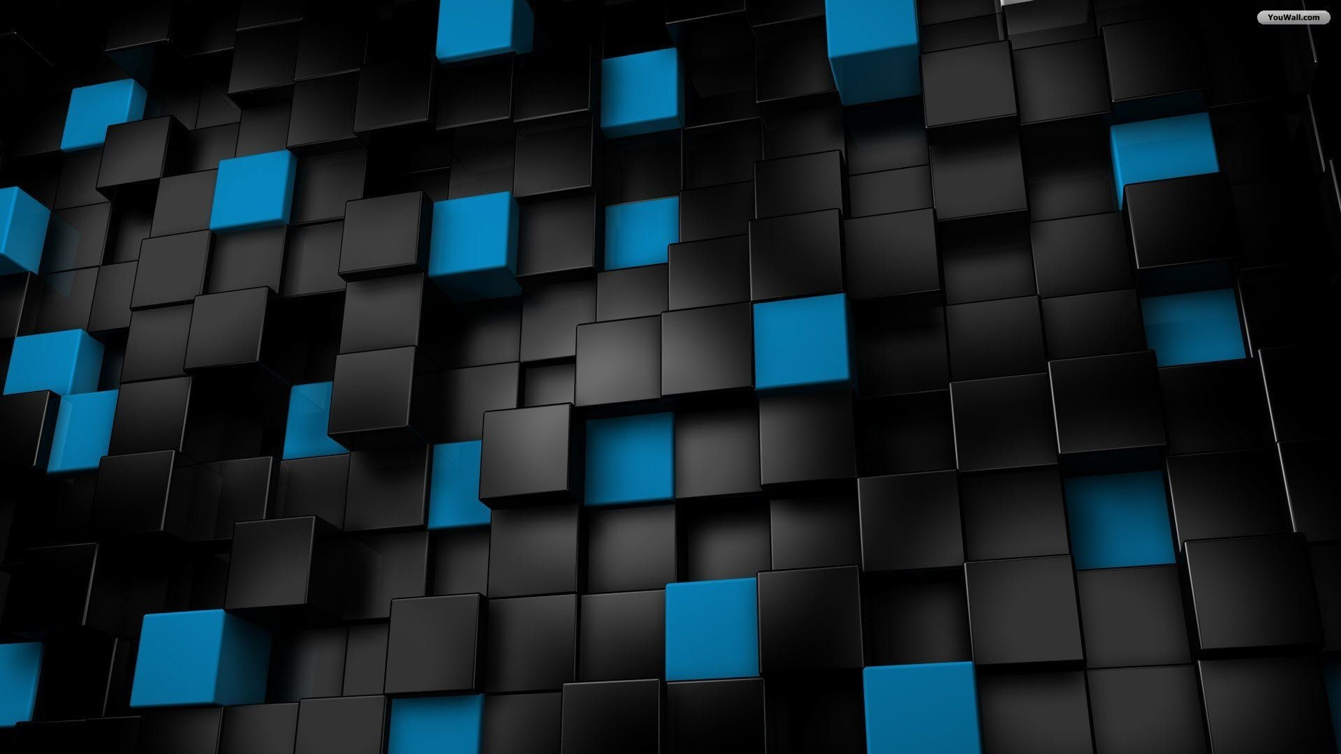 Download Black And Blue Cubes Wallpaper