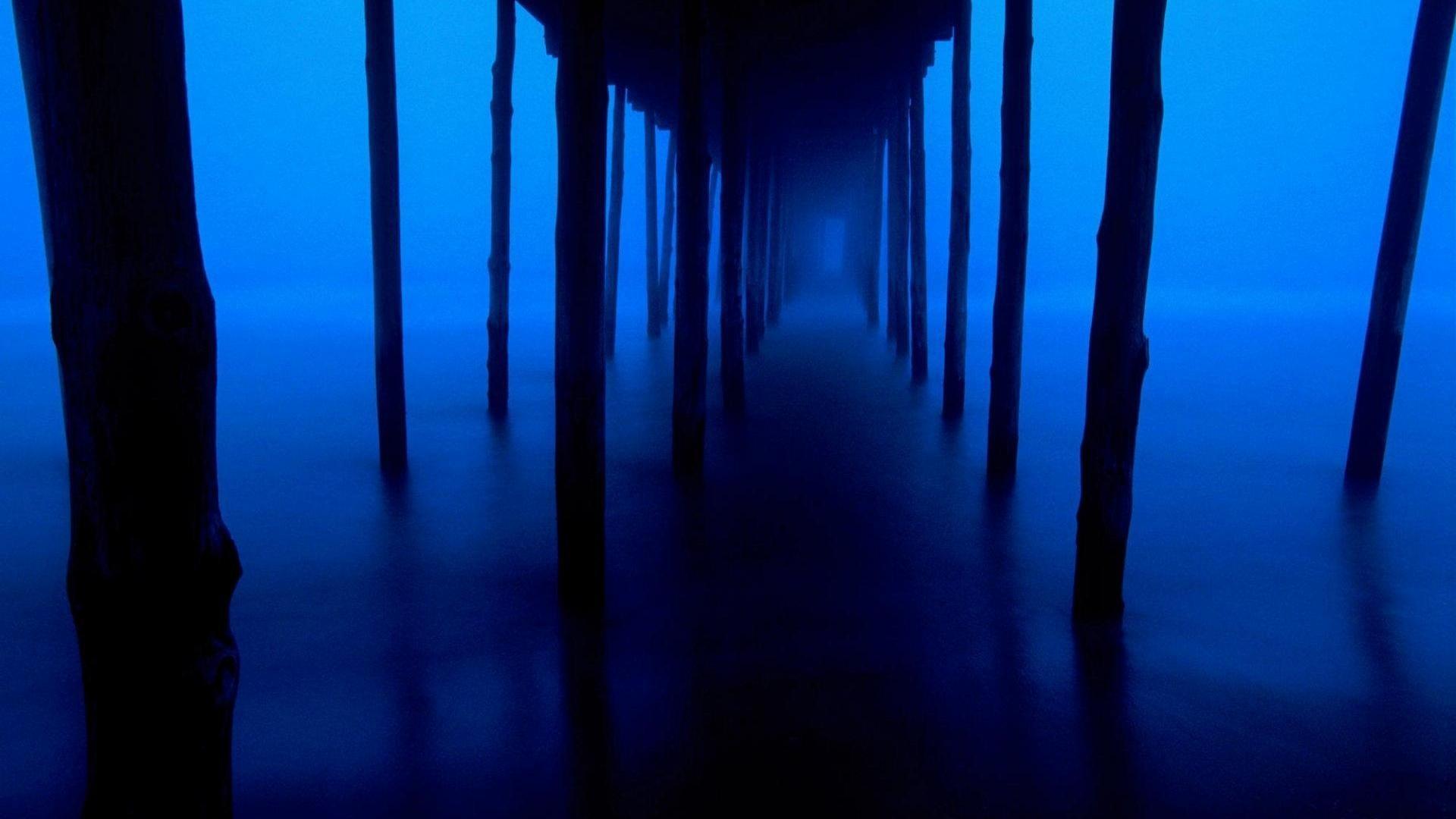 Dark-blue-wallpaper-support-bridge-mysterious