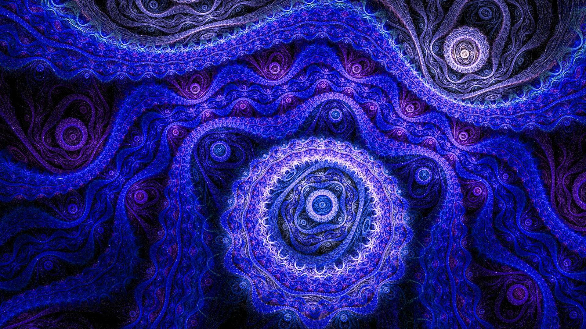 Wallpaper abstract, blue, pattern, purple, dark