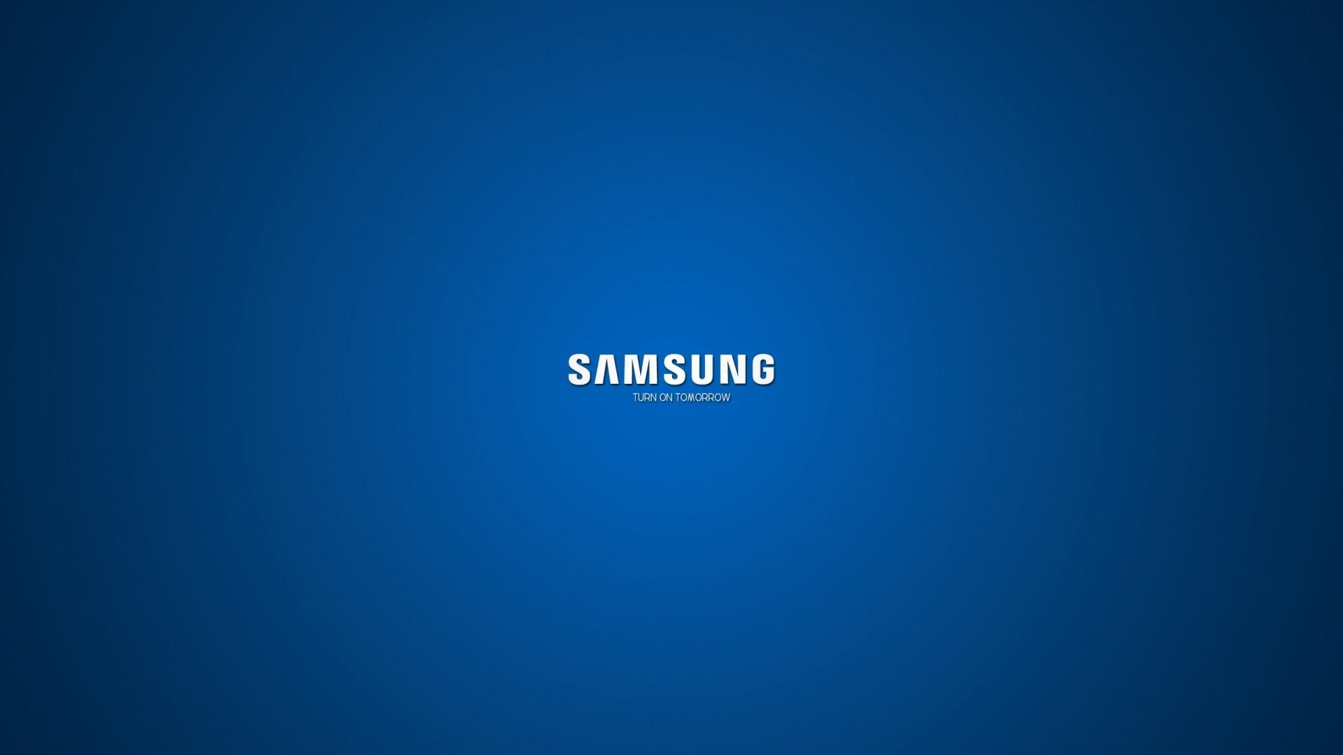 Wallpaper samsung, company, logo, blue, white