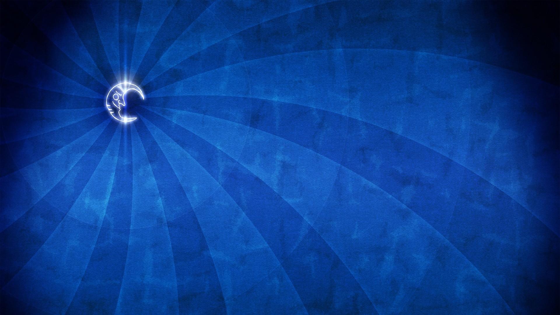 Wallpaper blue, minimalism, moon