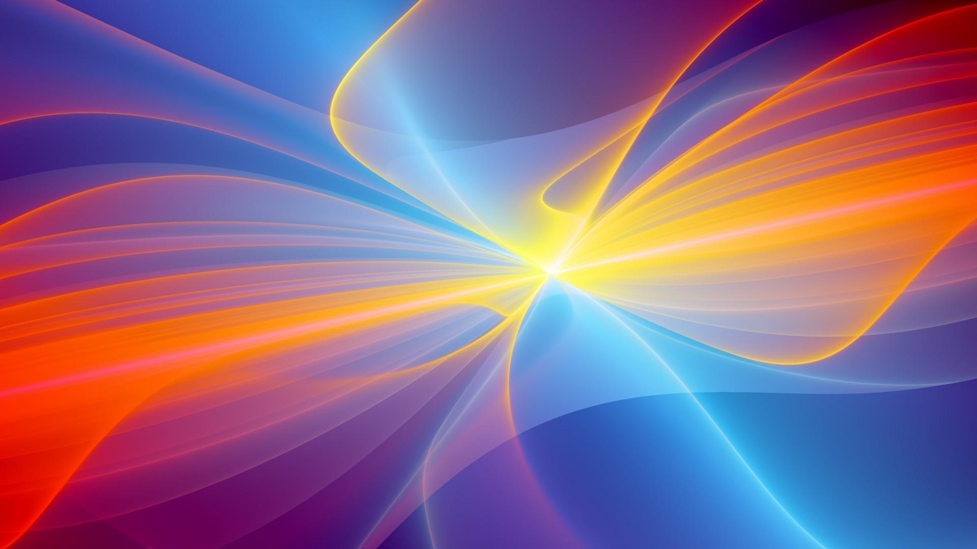 Wallpaper blue, yellow, red, smoke