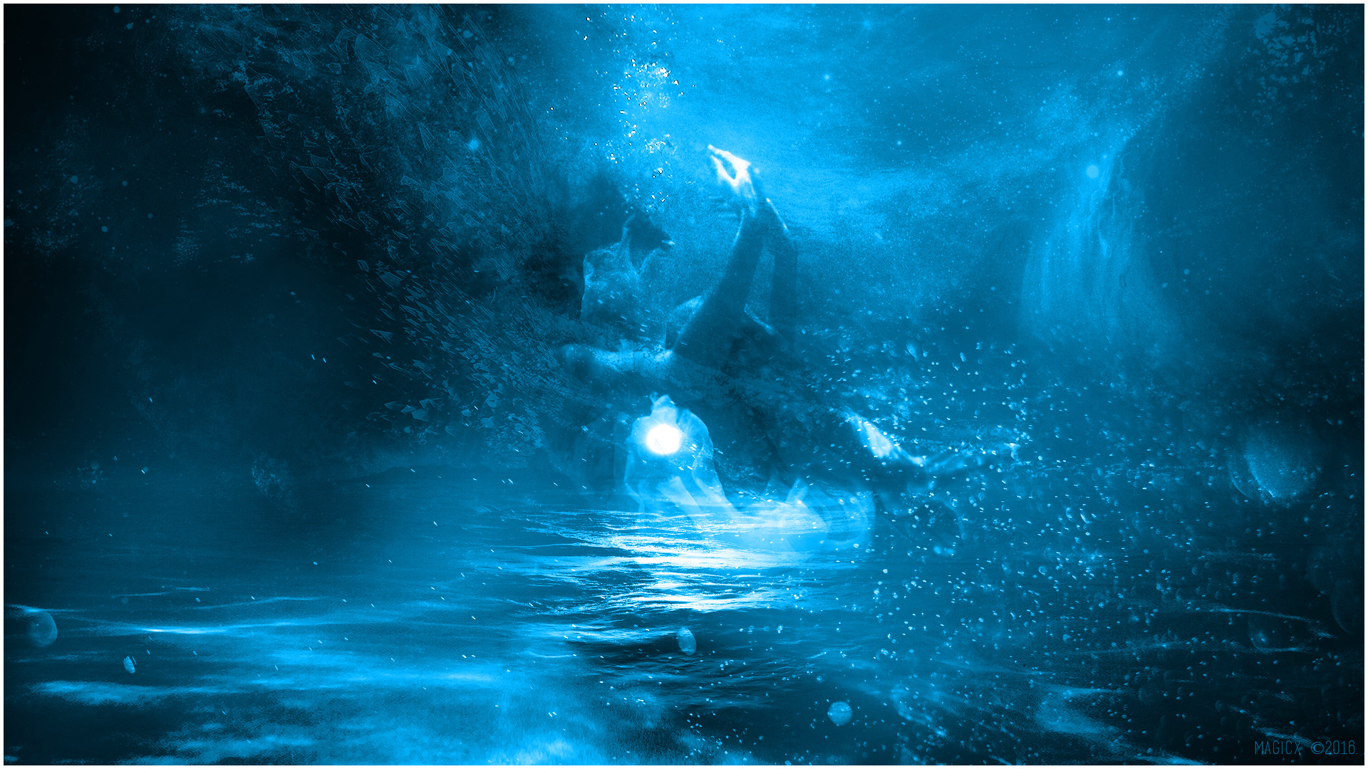… Drowning in Blue (Wallpaper – 1080p) by MagicXB