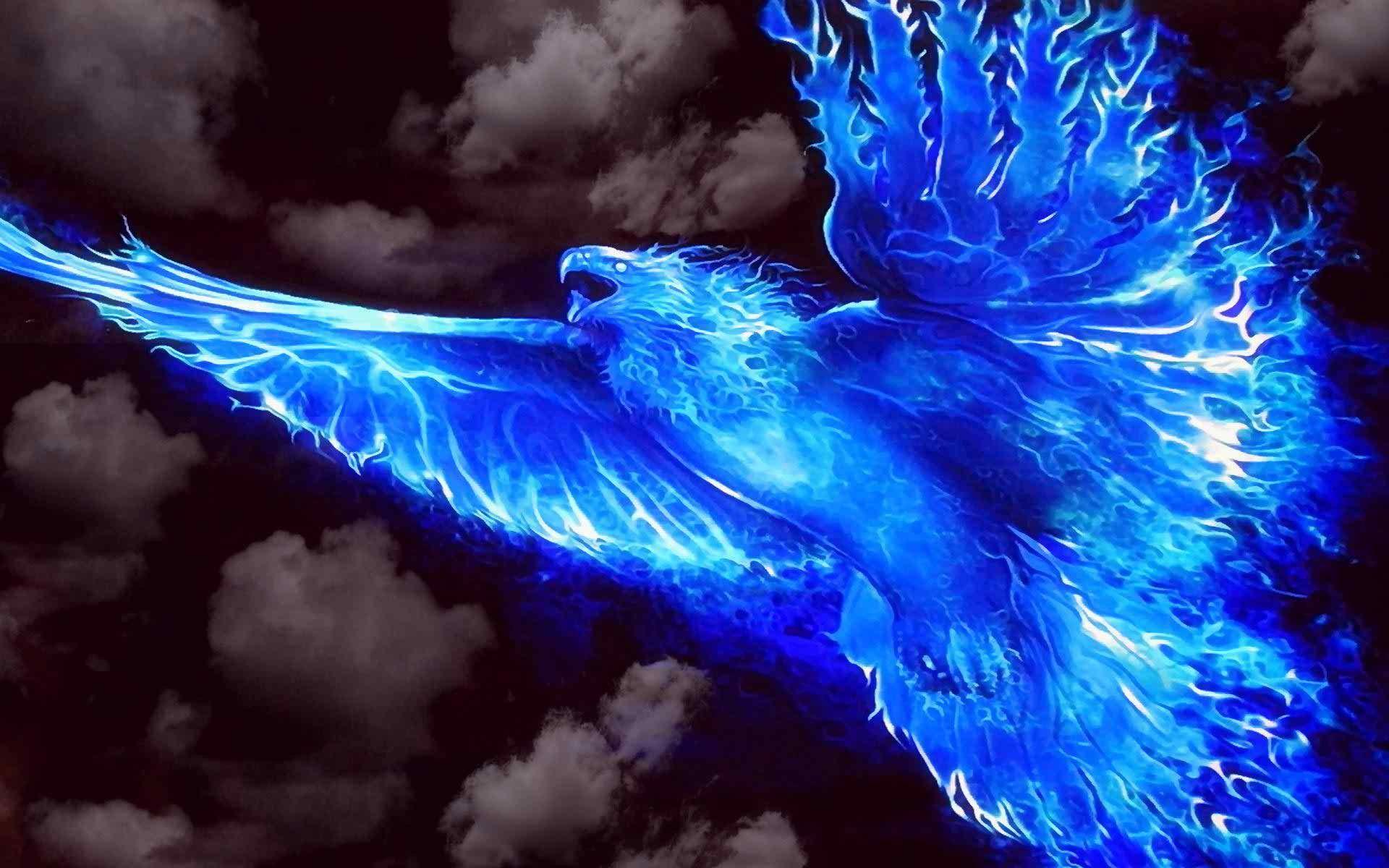 Blue Fire Wallpaper Blue