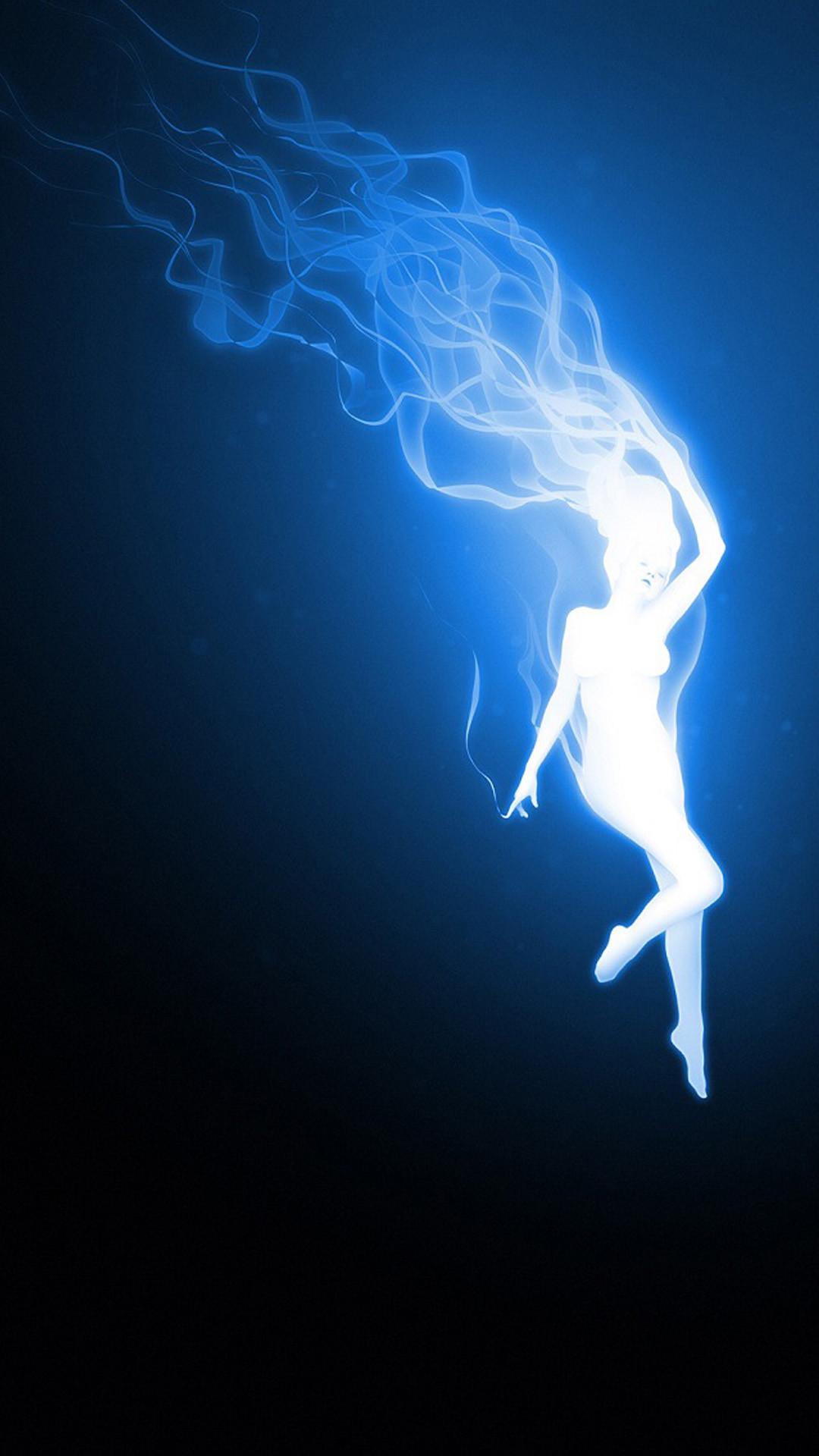 Blue fire woman Nexus 5 Wallpapers