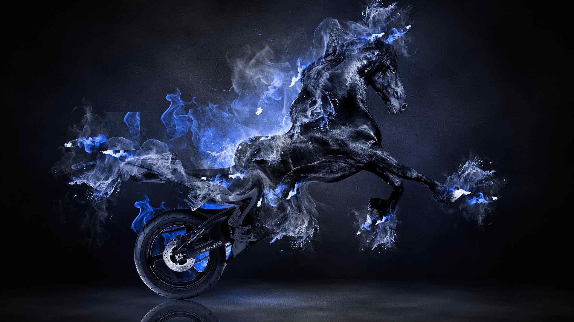 Blue Fire Desktop Wallpapers