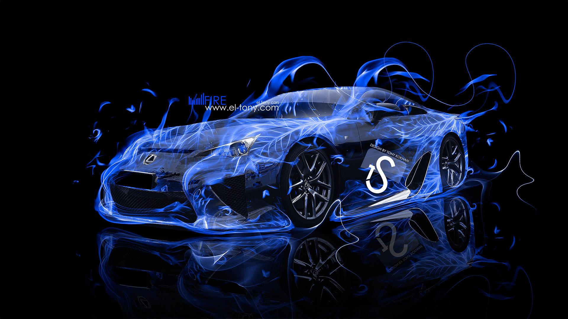 Lexus Blue Fire Car