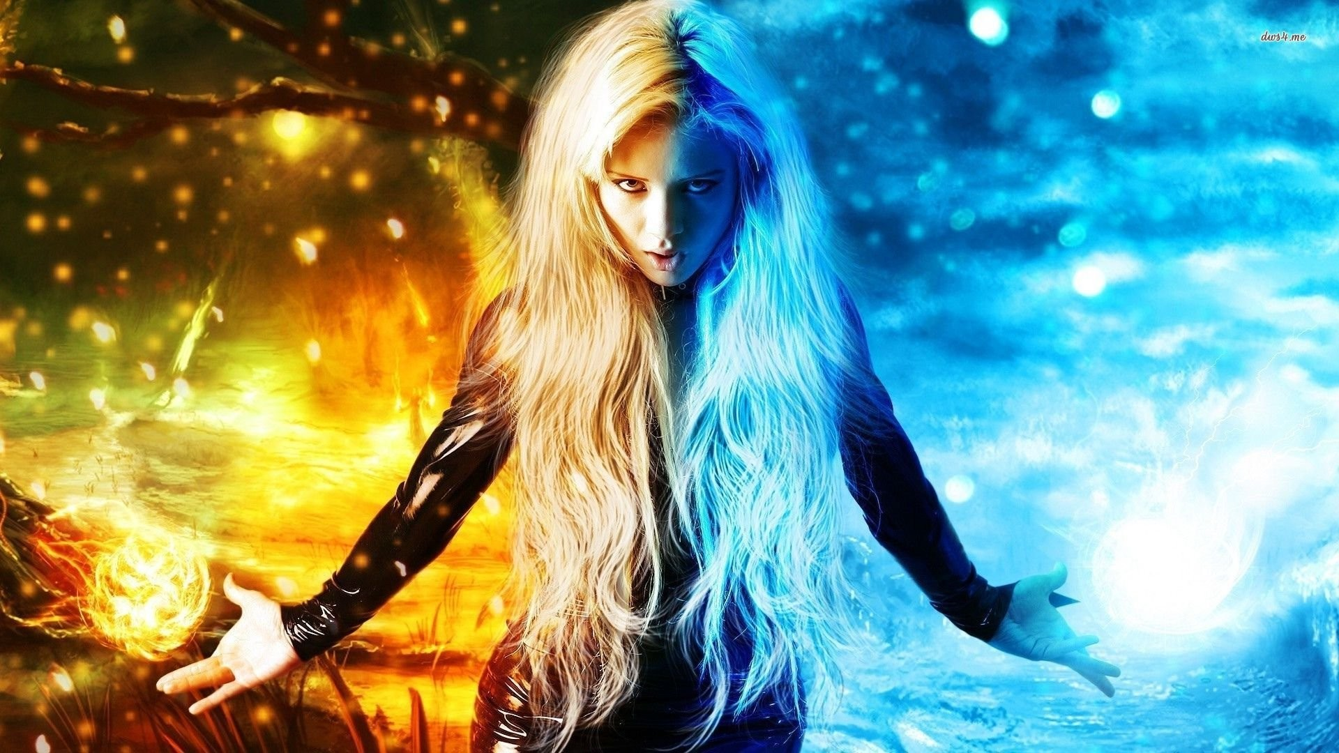 … woman out of fire and ice walldevil …