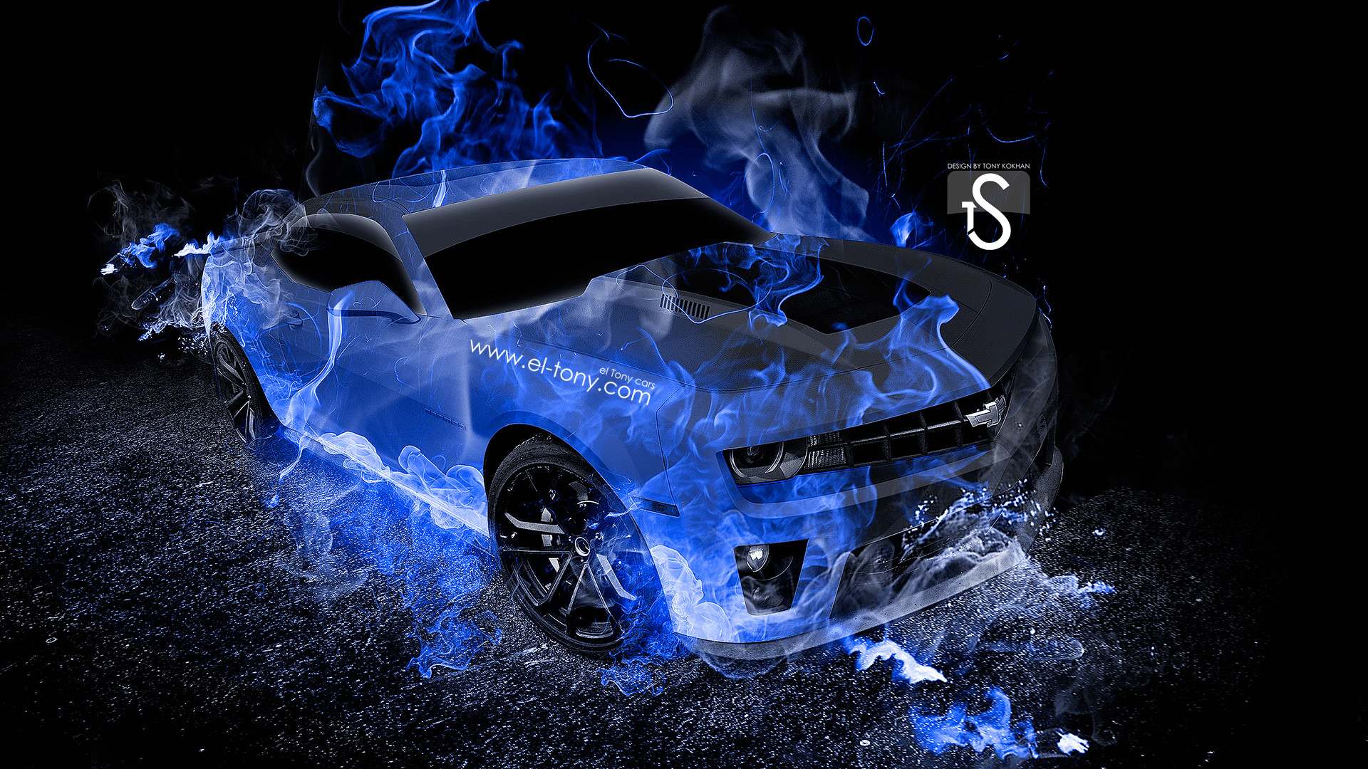 Chevrolet-Camaro-Blue-Fire-Abstract-Car-2013-HD- …
