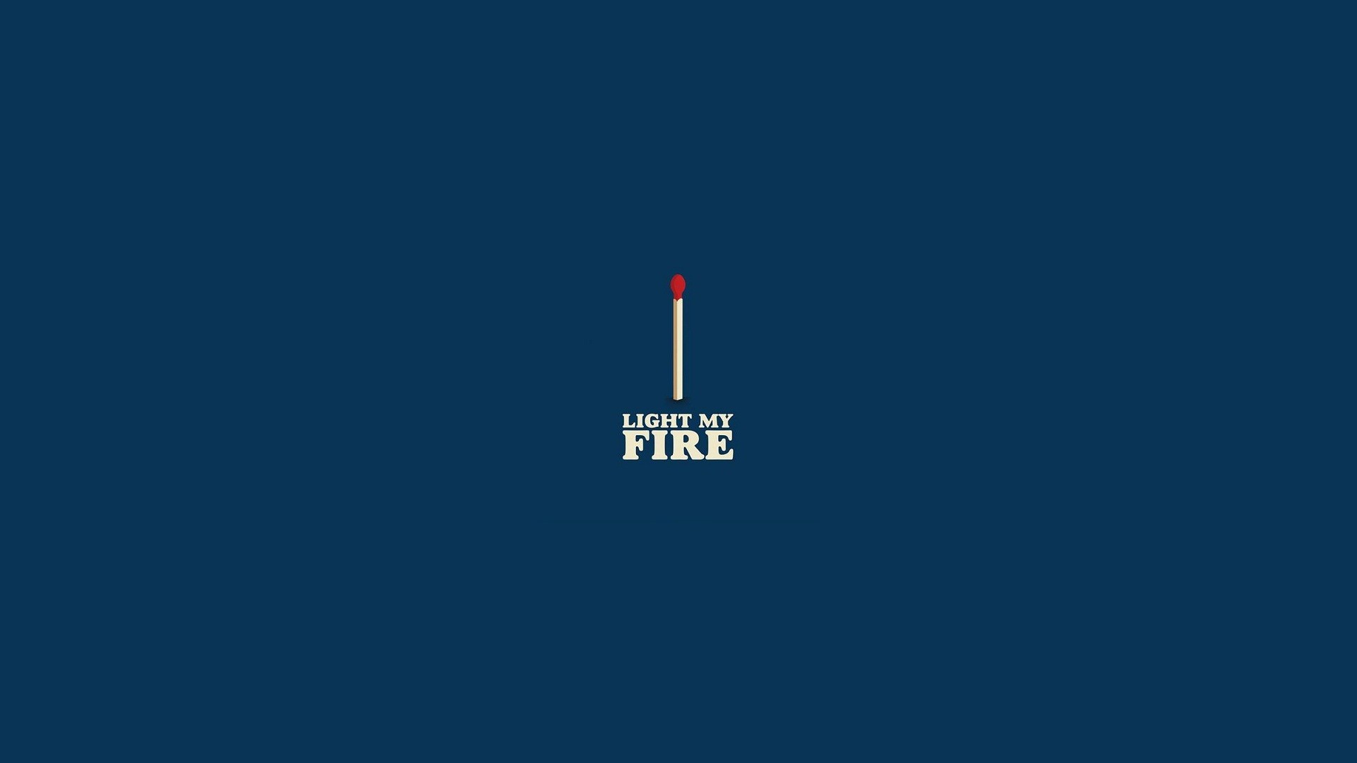 Home Wallpapers Blue Fire Match Minimalistic The Doors Wallpaper