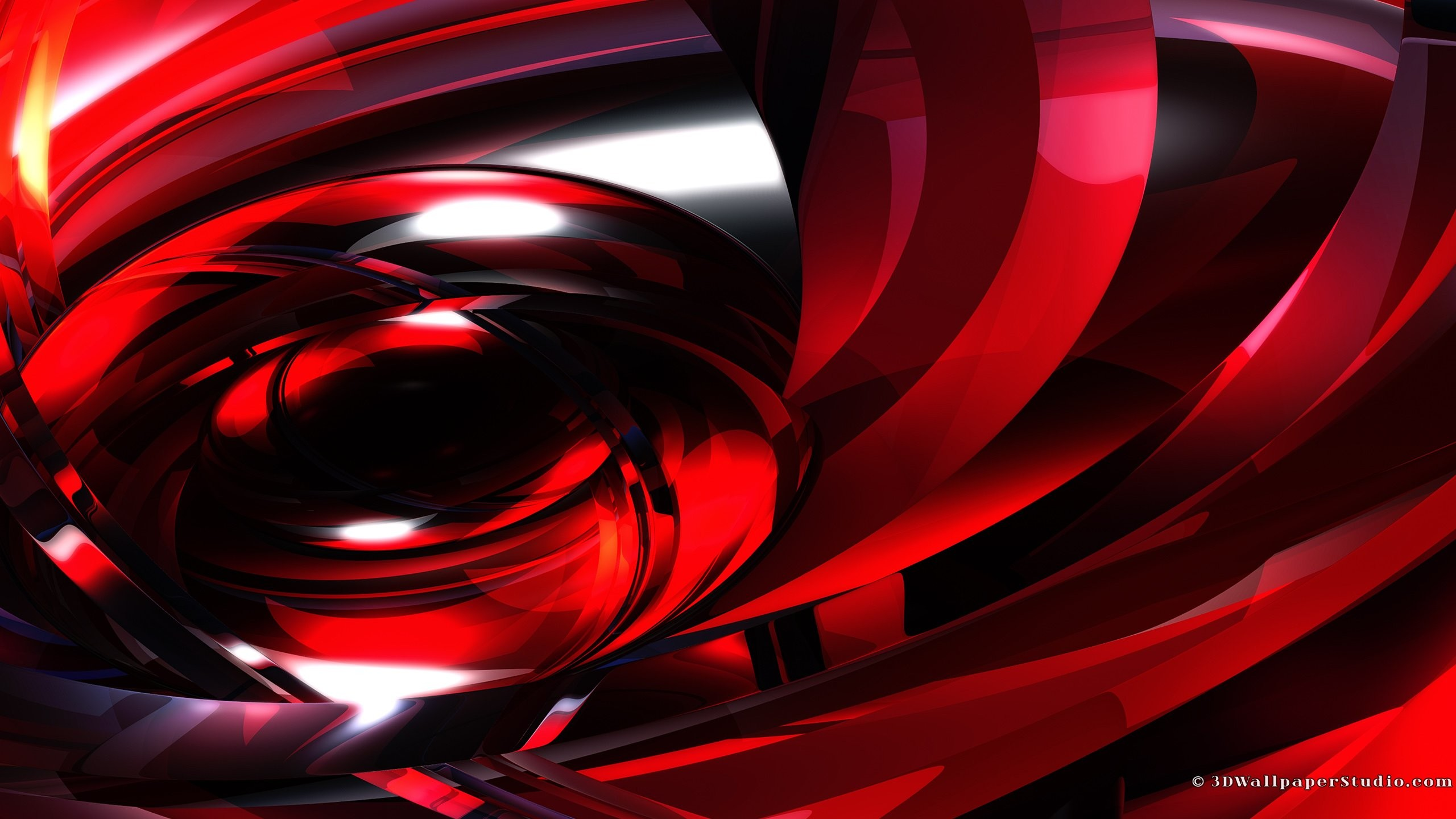 Glowing red abstract wallpaper in screen resolution