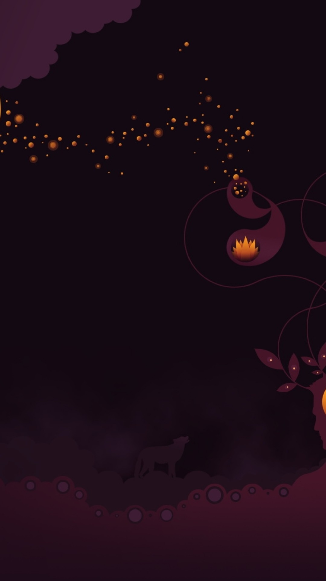 Wallpaper wolf, night, alone, dark
