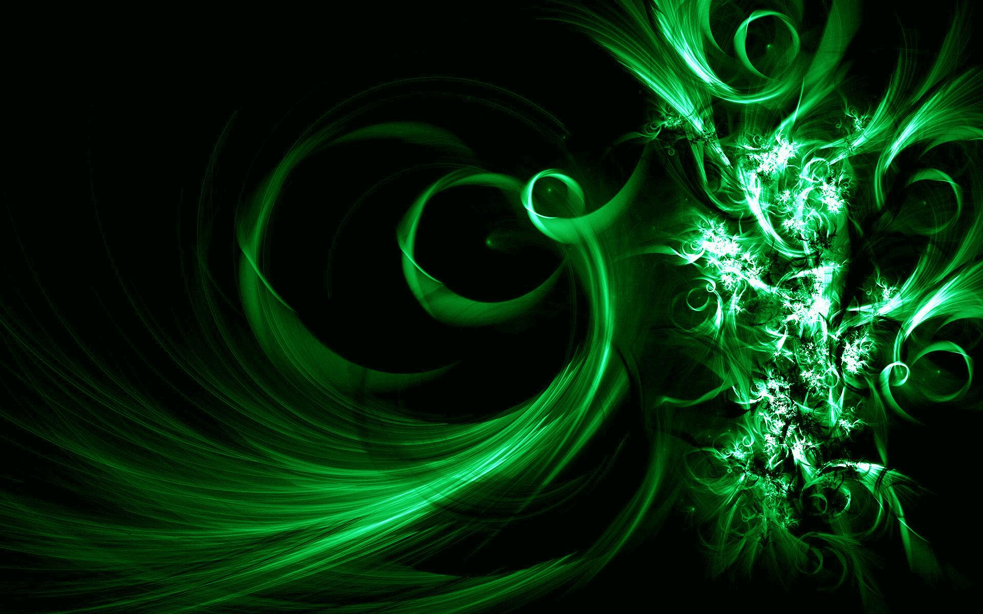 Image Description: This is Black and Green Vector Abstract Desktop Wallpaper  in Buubi.com