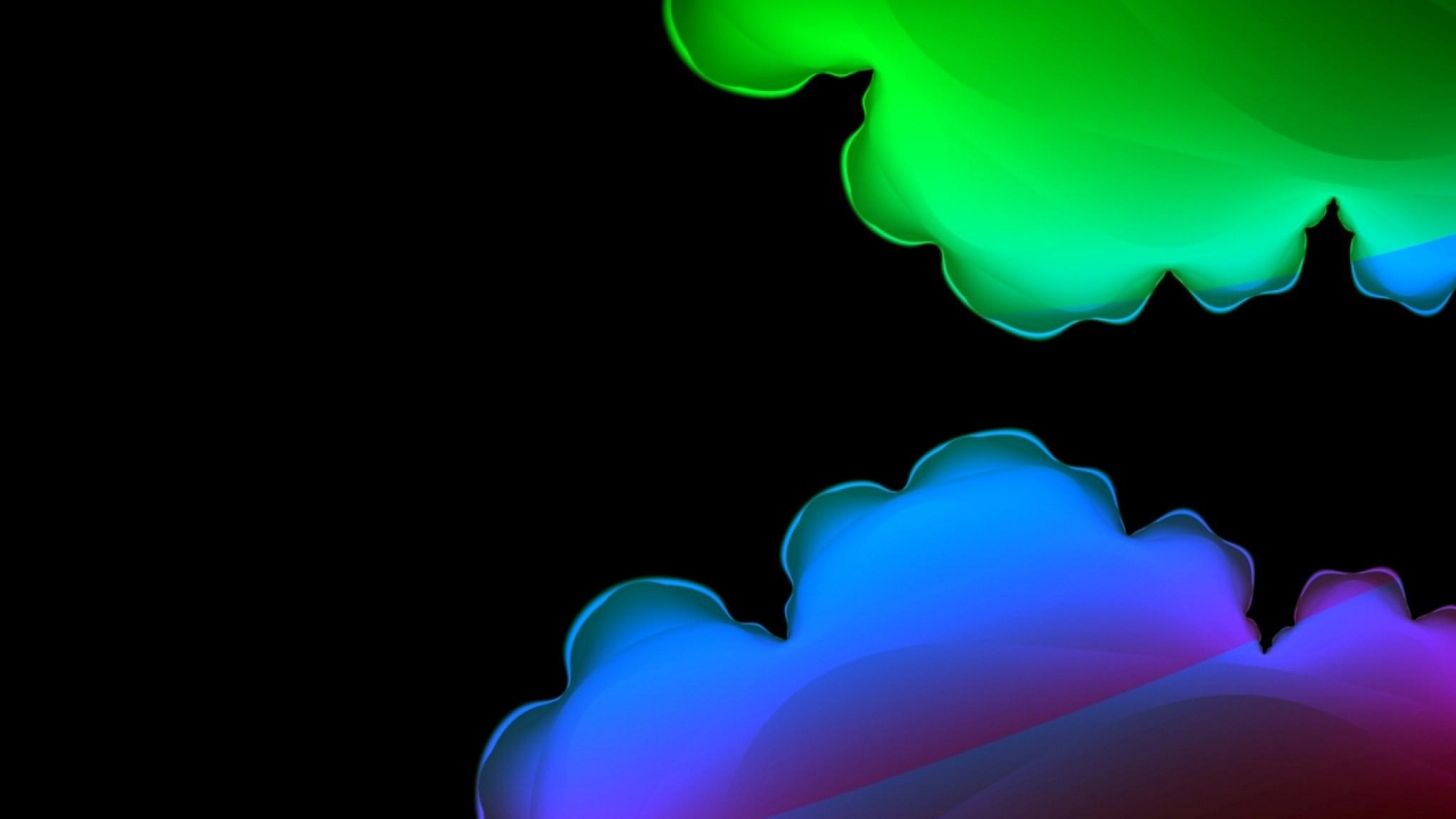 Wallpaper abstract, blue, purple, green, black