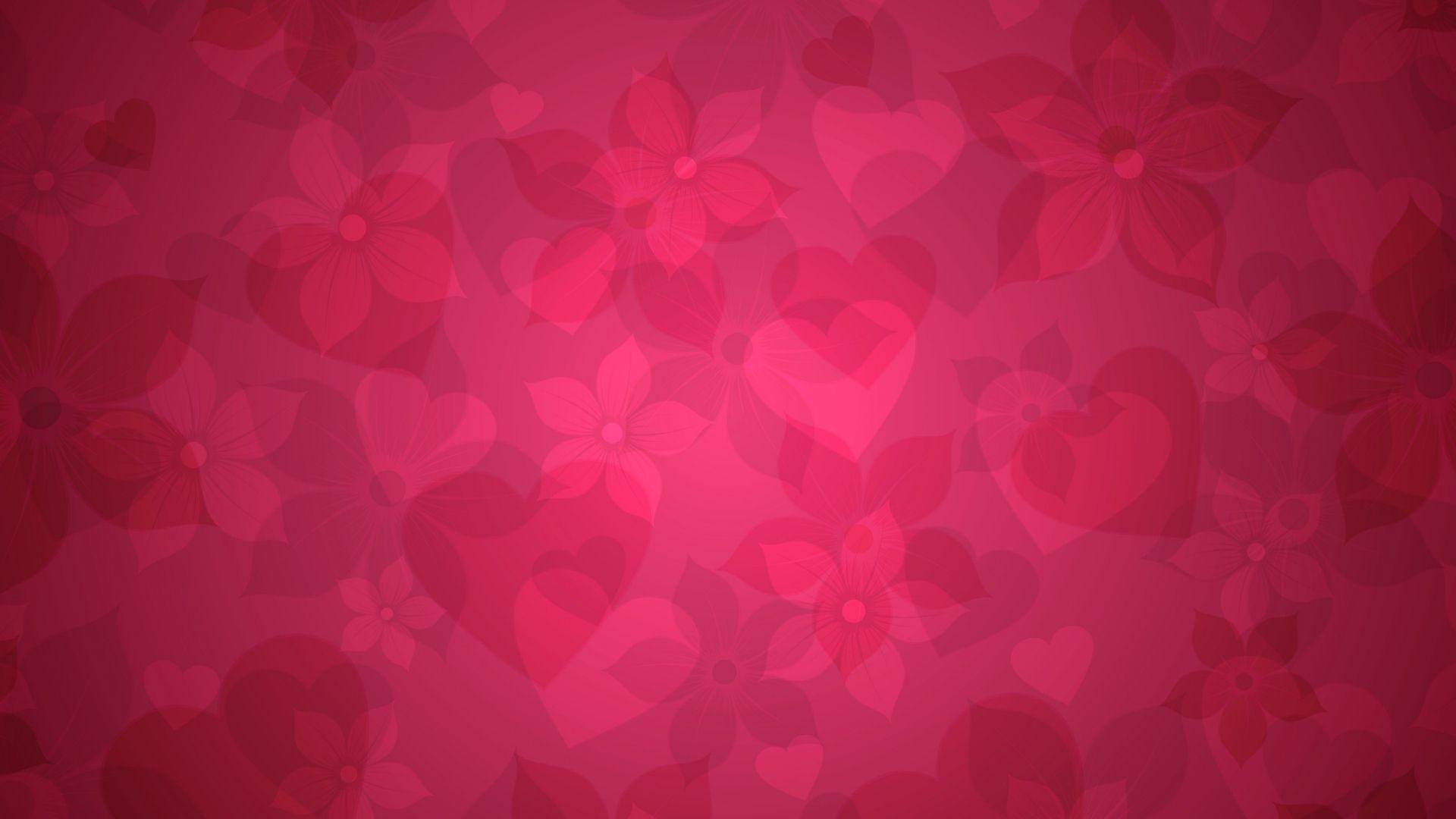Pink Heart Background Wallpaper X