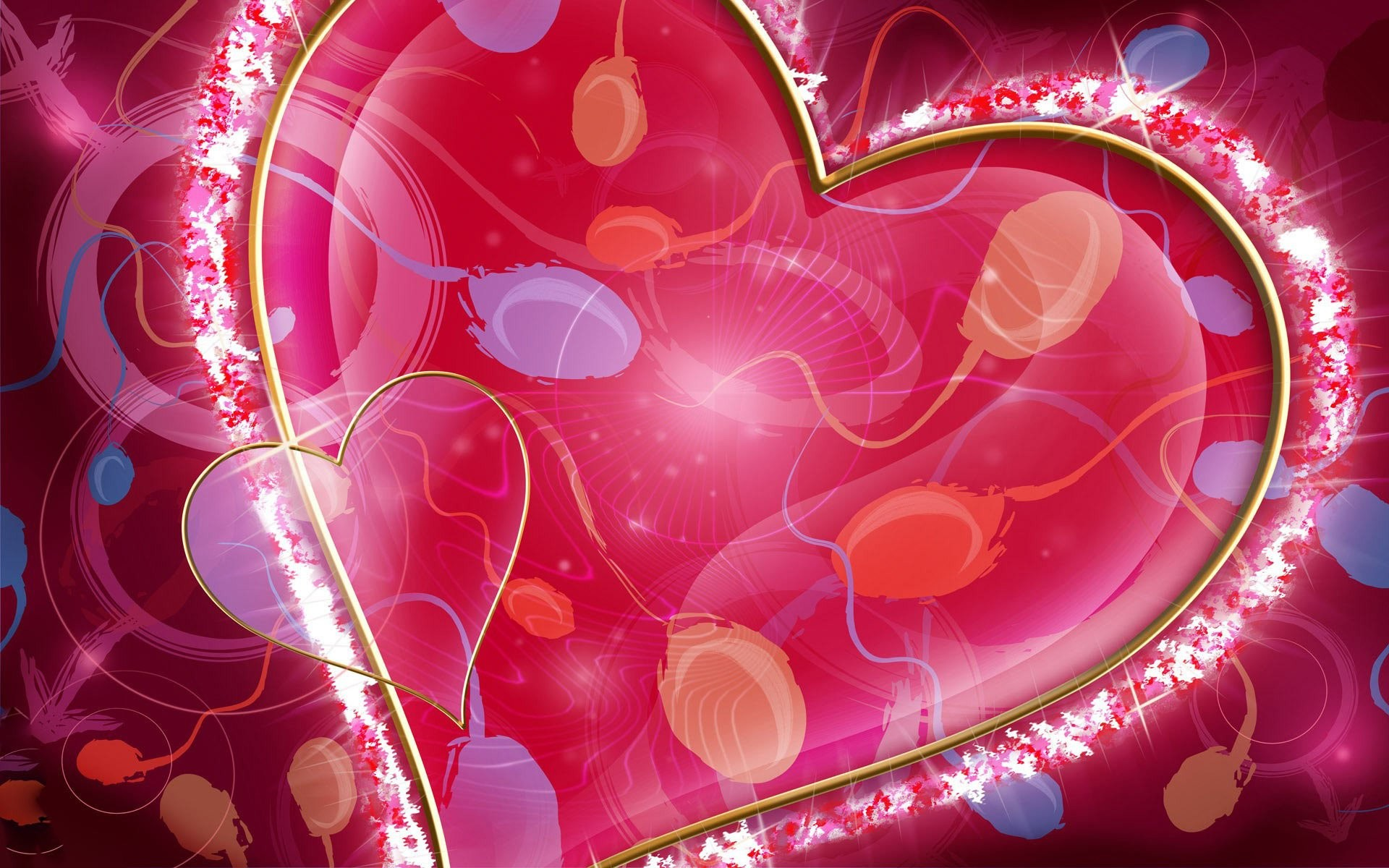 Glowing Pink Heart