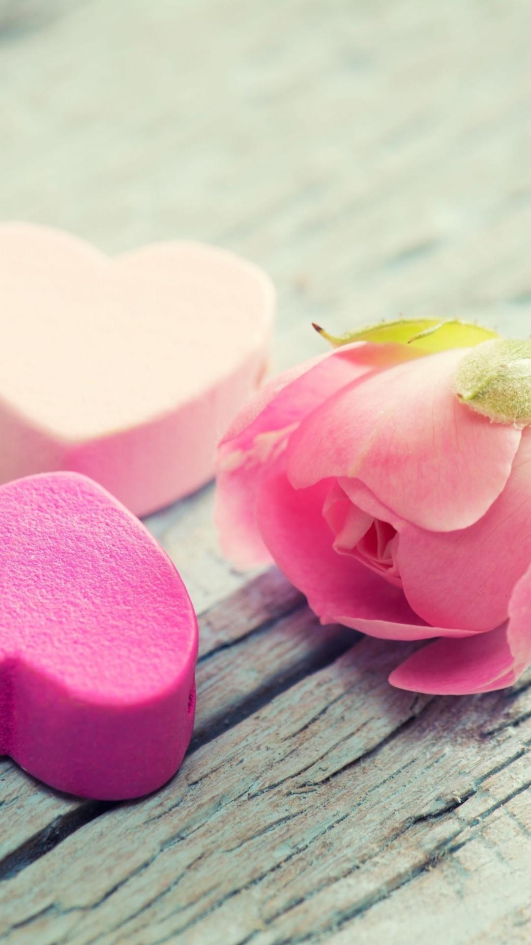 Heart Flower Tenderness Pink iPhone 6 wallpaper