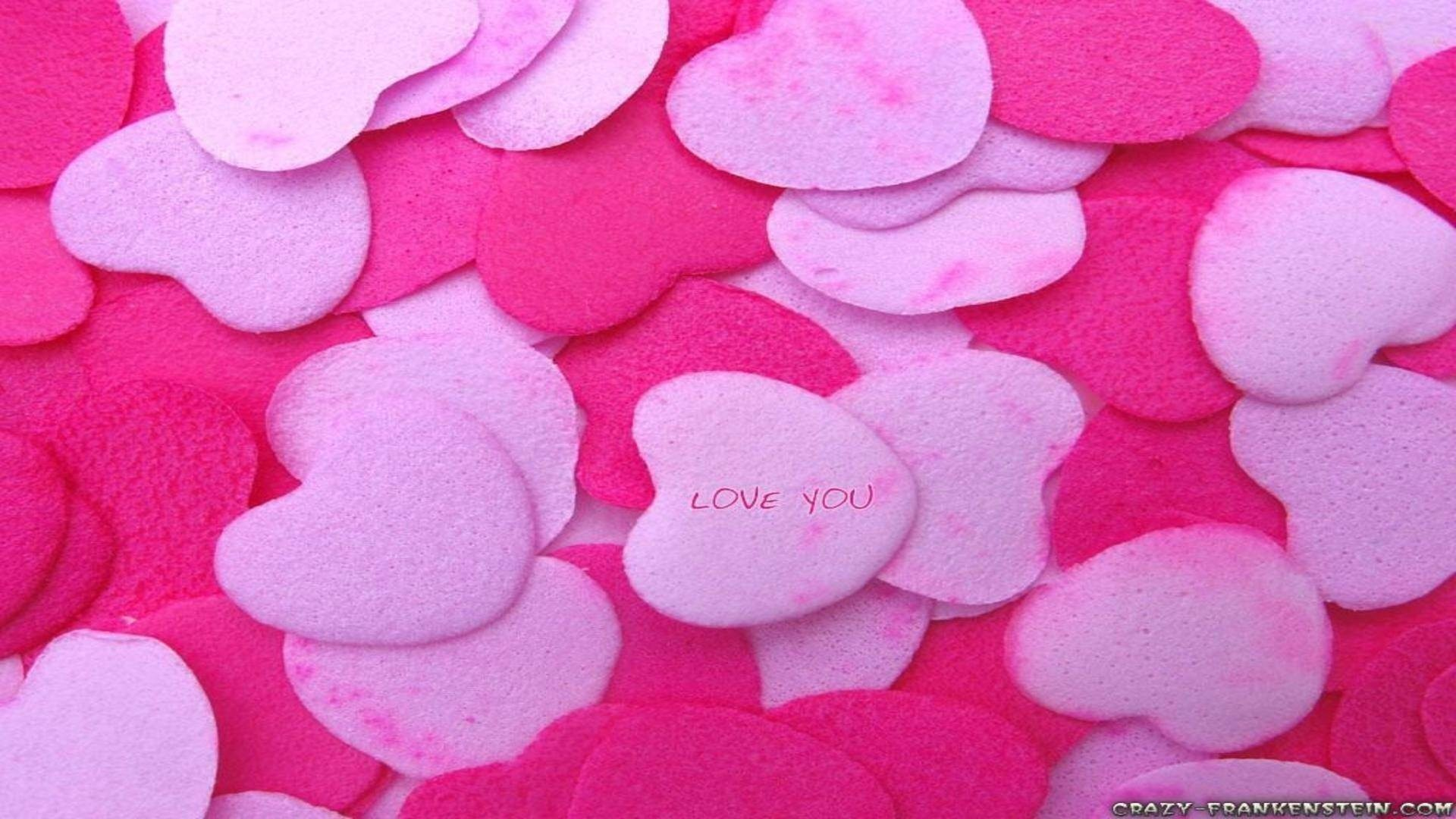 Wallpapers Backgrounds – Bunch pink red hearts love wallpapers desktop  background
