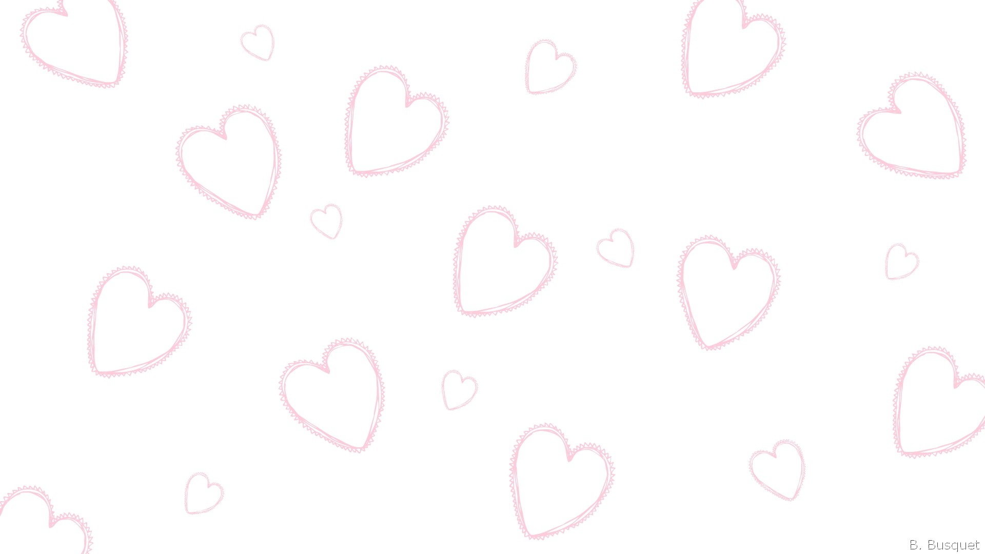 Pink And White Heart Wallpaper