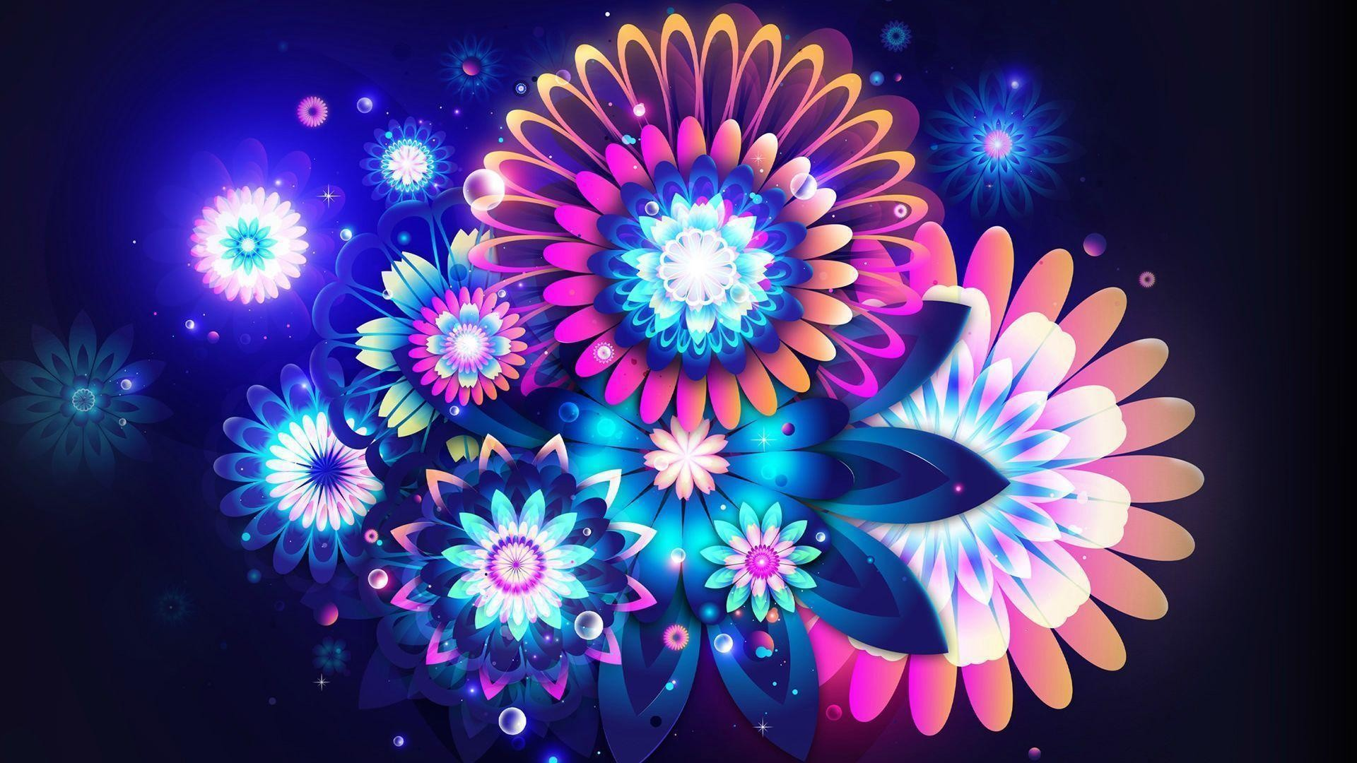 Wallpapers For > Colorful Neon Backgrounds | Random Photos .