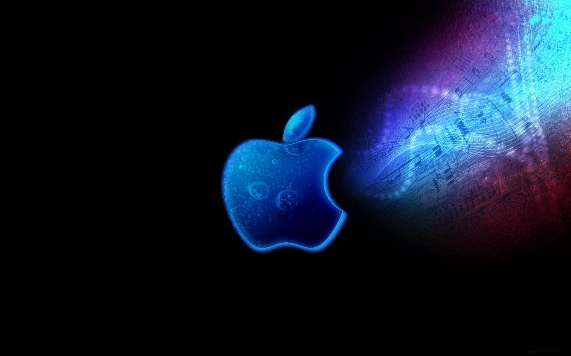 Wallpaper apple, mac, brand, logo, neon, light, bright,