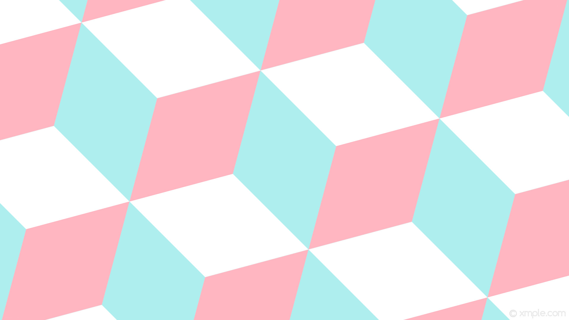wallpaper 3d cubes blue white pink pale turquoise light pink #afeeee  #ffb6c1 #ffffff