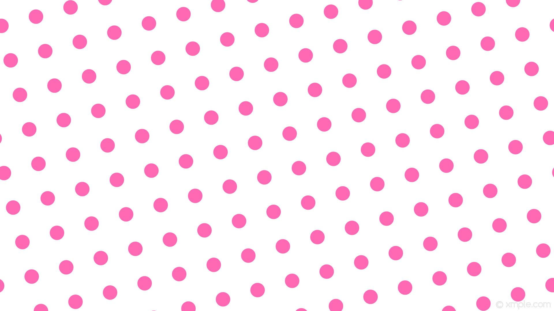 wallpaper white pink dots spots polka hot pink #ffffff #ff69b4 195° 50px  124px