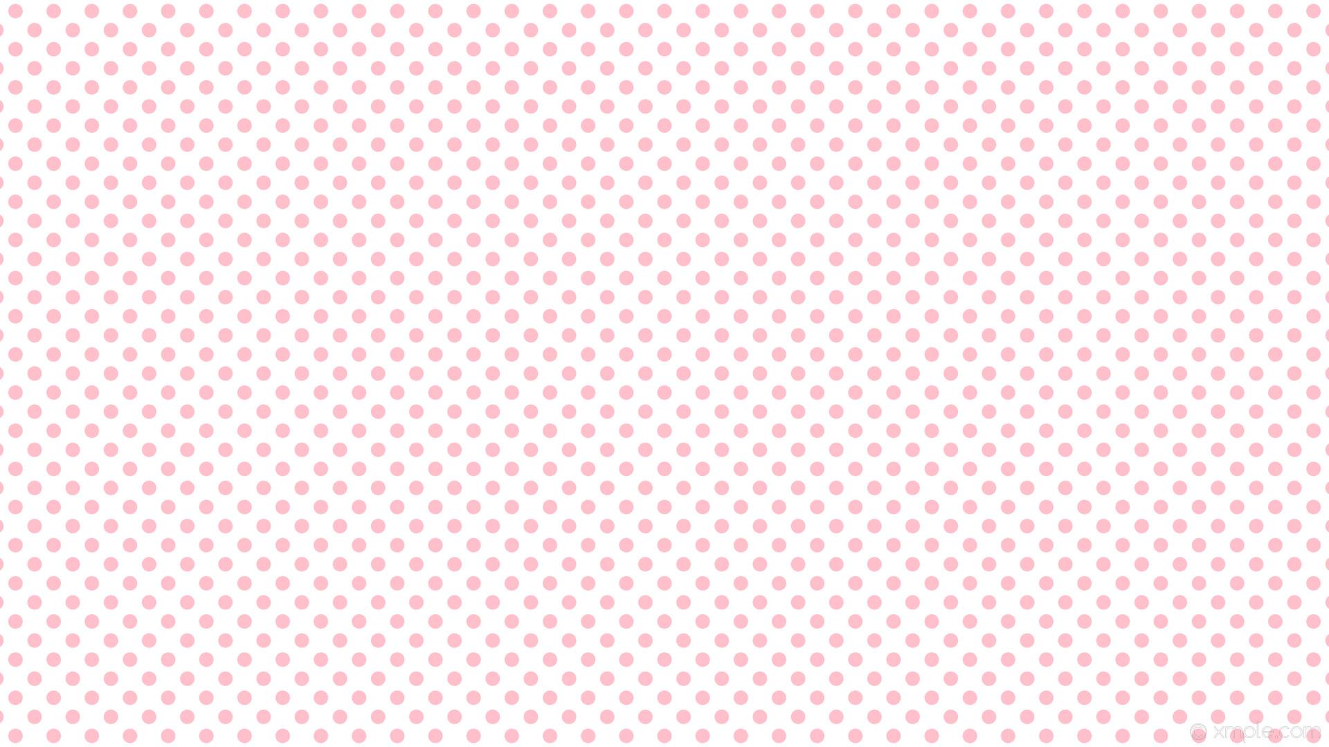 wallpaper white polka dots spots pink #ffffff #ffc0cb 315° 21px 39px