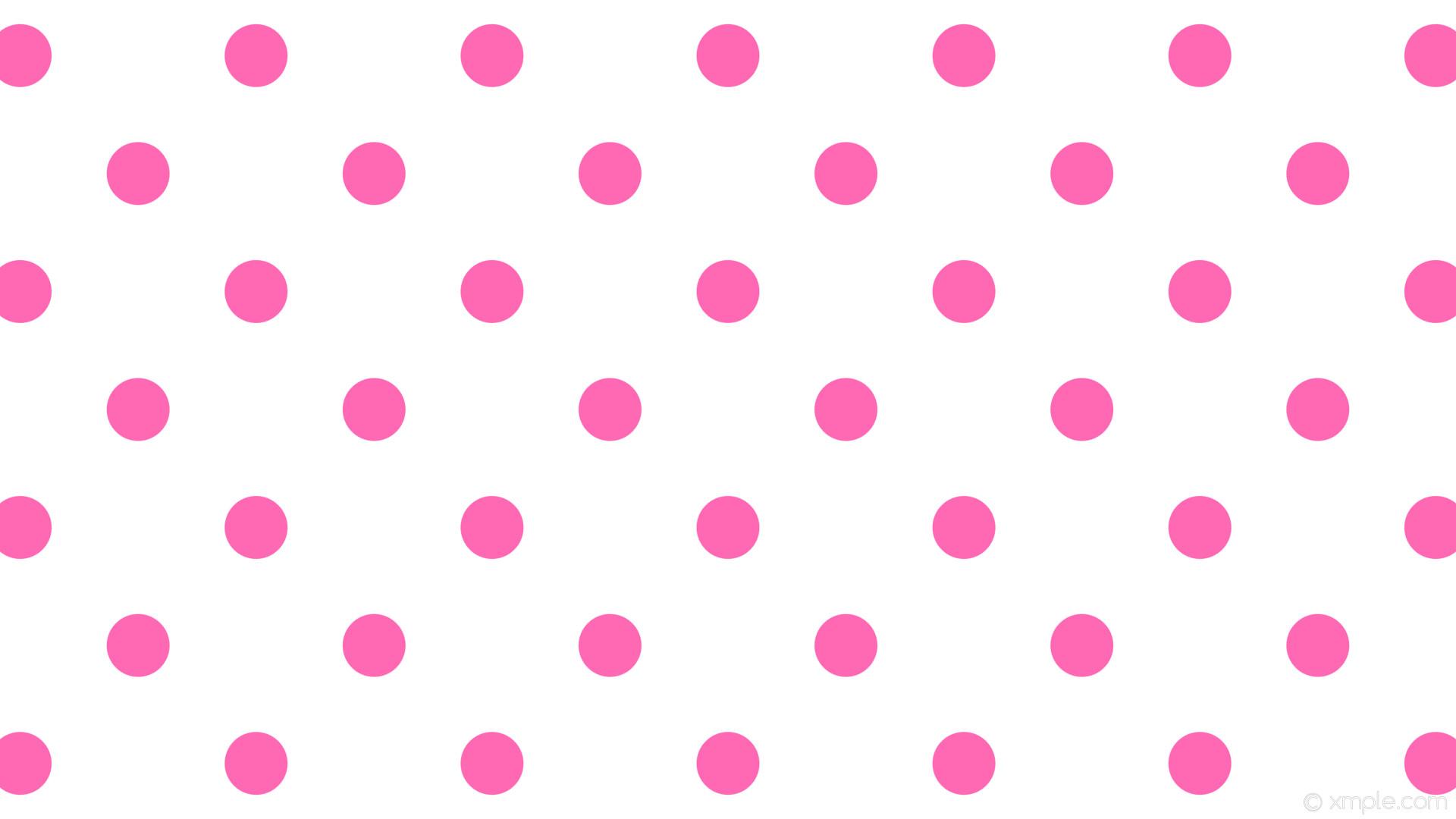 wallpaper dots pink polka spots white hot pink #ffffff #ff69b4 45° 83px  220px