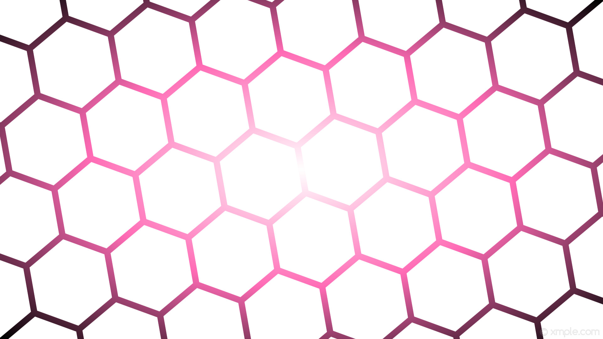 wallpaper glow hexagon white pink black gradient hot pink #ffffff #ffffff  #ff69b4 diagonal